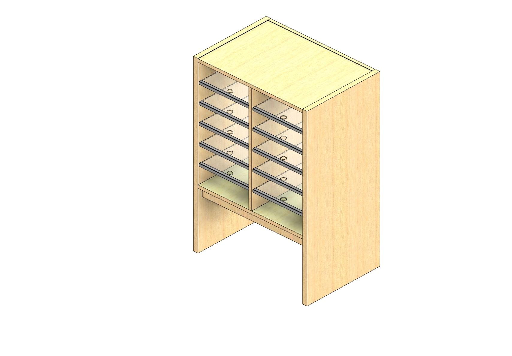 "Legal Sized Plexi Back Sort Module - 2 Columns - 24"" Sorting Height w/ 12"" Riser"