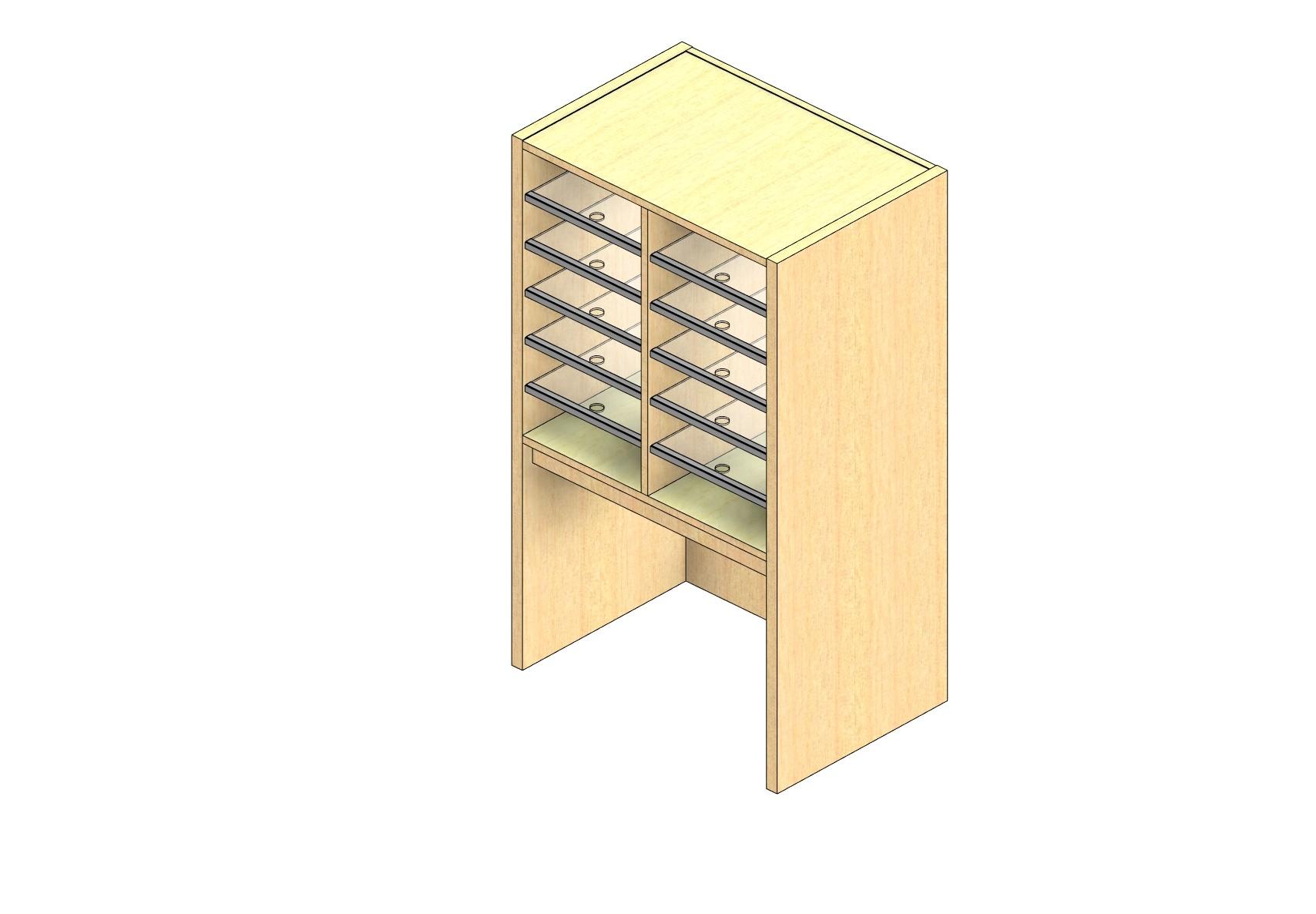 "Legal Sized Open Back Sort Module - 2 Columns - 24"" Sorting Height w/ 18"" Riser"