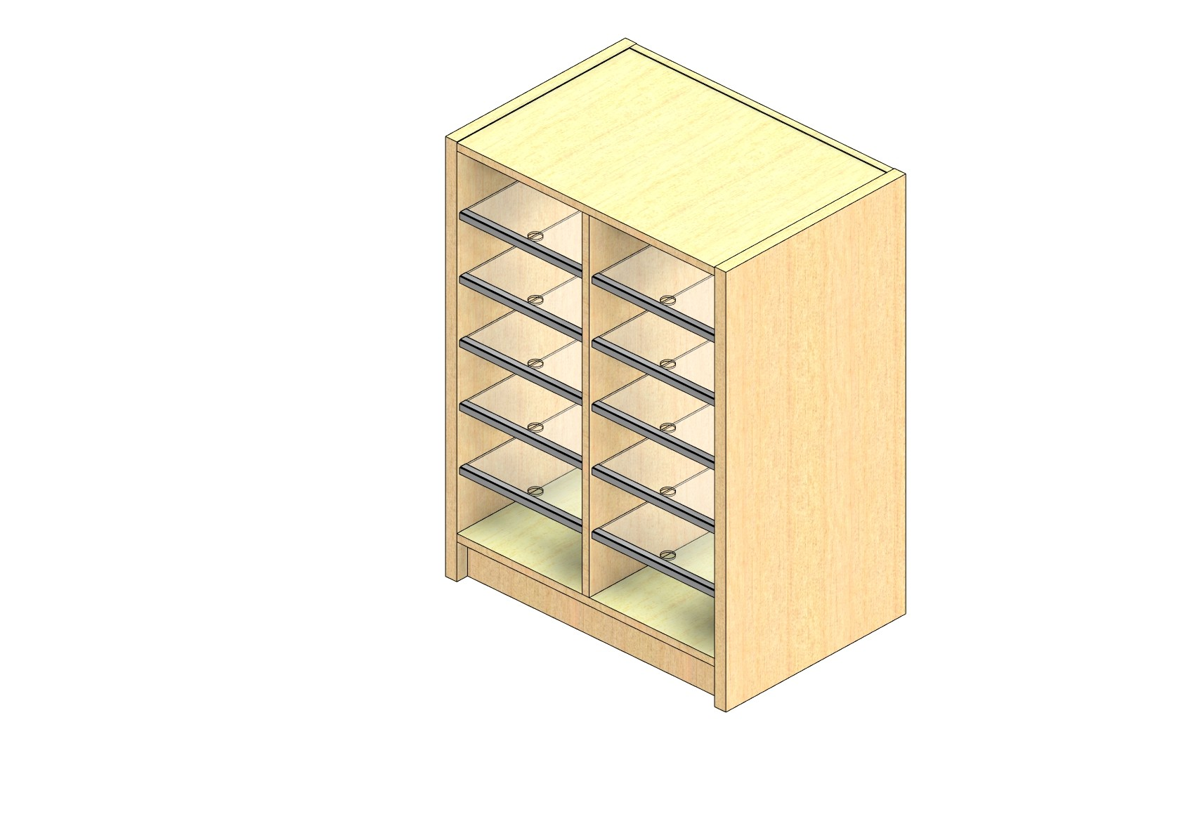 "Legal Sized Open Back Sort Module - 2 Columns - 30"" Sorting Height w/ 3"" Riser"
