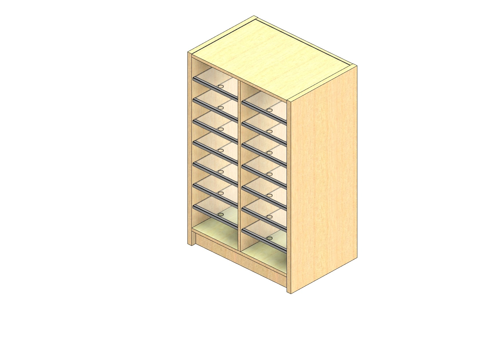 """Legal Sized Closed Back Sort Module - 2 Columns - 36"""" Sorting Height w/ 3"""" Riser"""