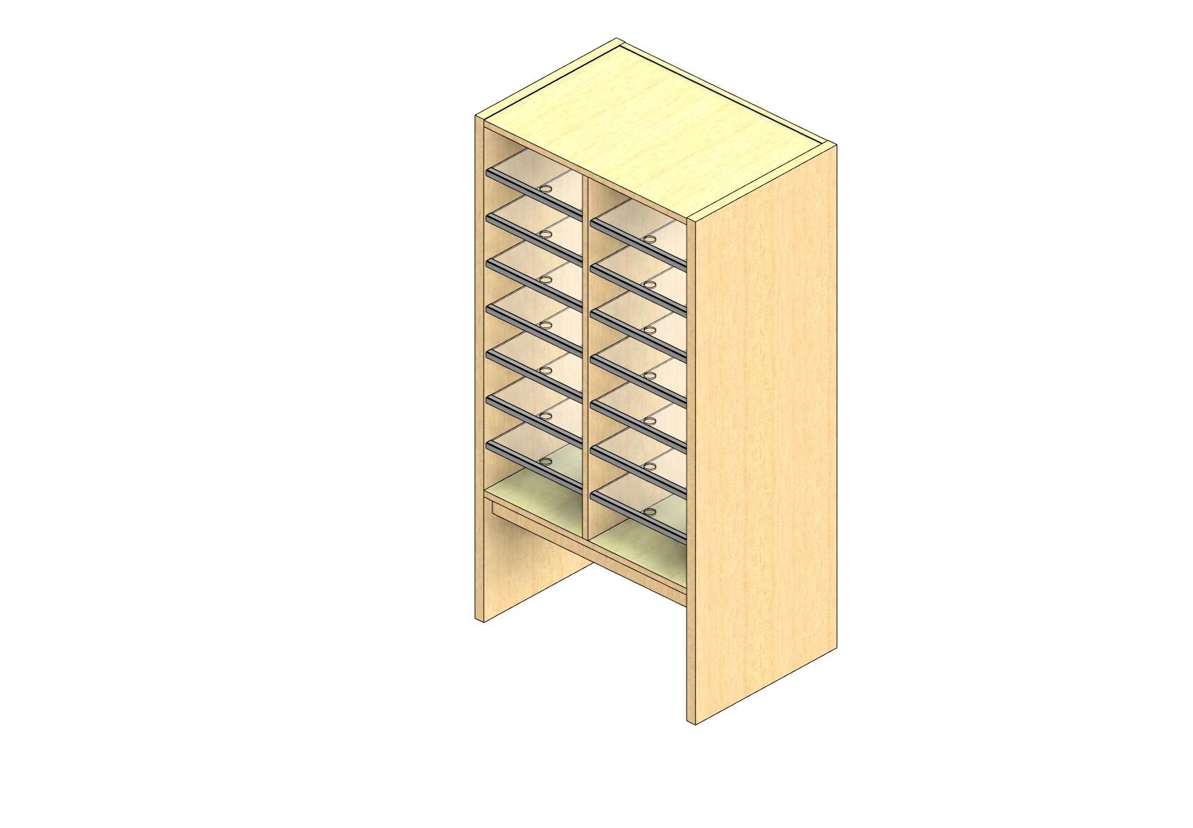 """Legal Sized Closed Back Sort Module - 2 Columns - 36"""" Sorting Height w/ 12"""" Riser"""
