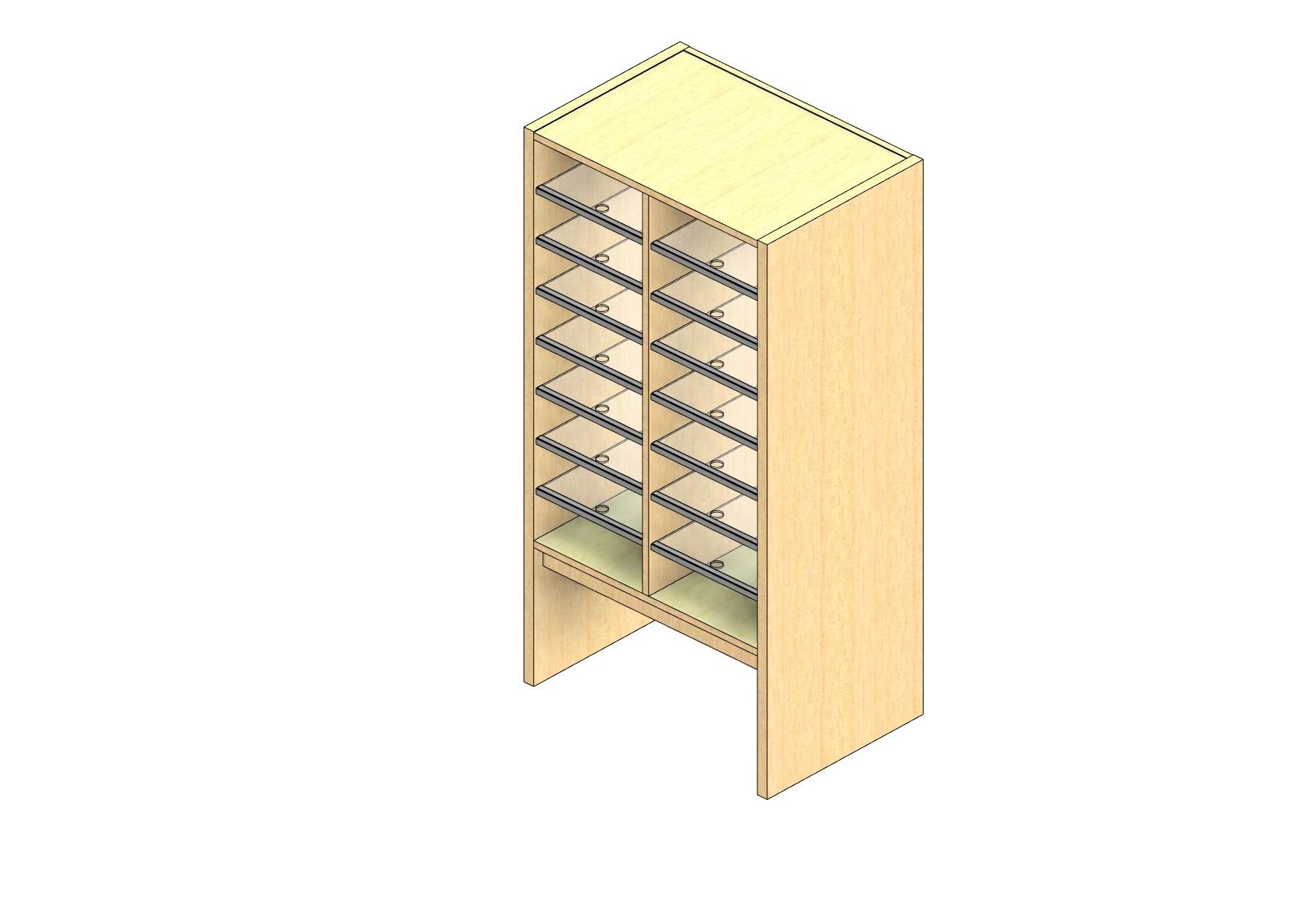 "Legal Sized Plexi Back Sort Module - 2 Columns - 36"" Sorting Height w/ 12"" Riser"