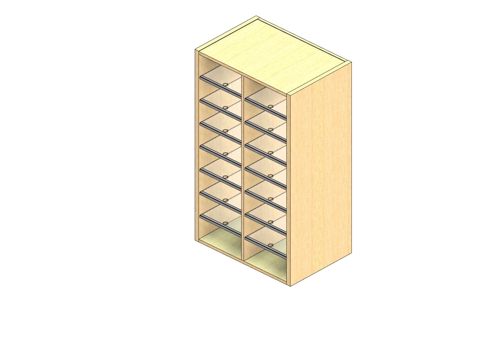 "Legal Sized Plexi Back Sort Module - 2 Columns - 42"" Sorting Height w/ No Riser"