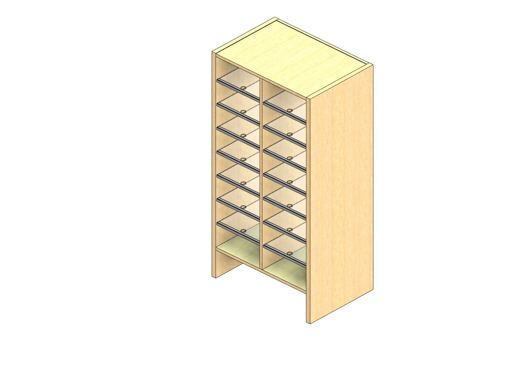 """Legal Sized Closed Back Sort Module - 2 Columns - 42"""" Sorting Height w/ 6"""" Riser"""