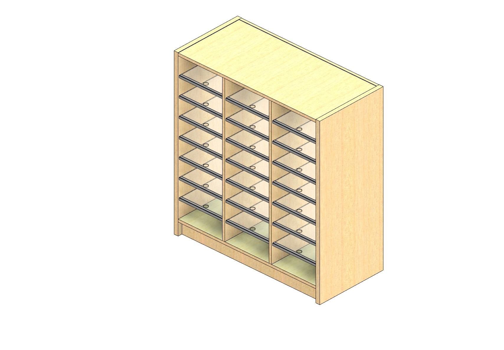 """Legal Sized Closed Back Sort Module - 3 Columns - 36"""" Sorting Height w/ 3"""" Riser"""