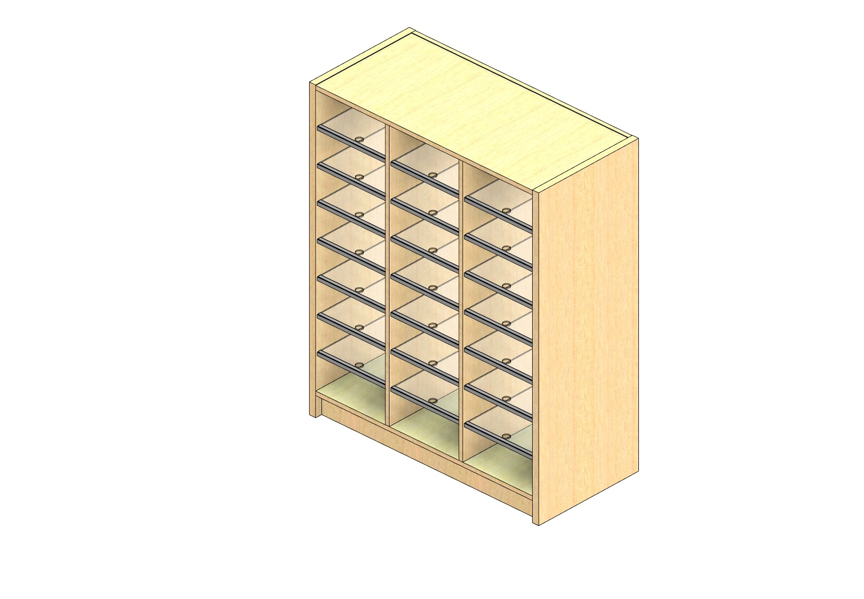 """Legal Sized Closed Back Sort Module - 3 Columns - 42"""" Sorting Height w/ 3"""" Riser"""