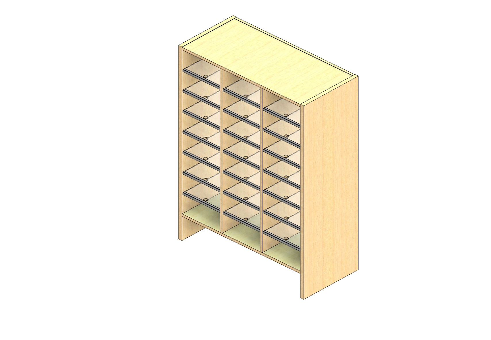 """Legal Sized Closed Back Sort Module - 3 Columns - 42"""" Sorting Height w/ 6"""" Riser"""