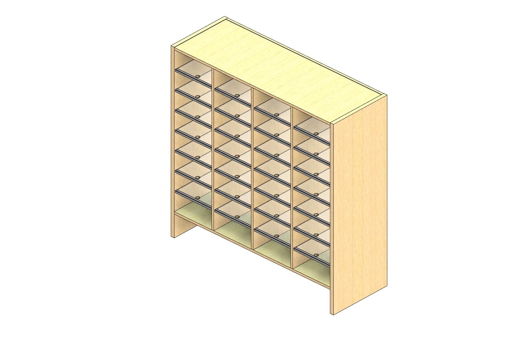 "Legal Sized Plexi Back Sort Module - 4 Columns - 42"" Sorting Height w/ 6"" Riser"