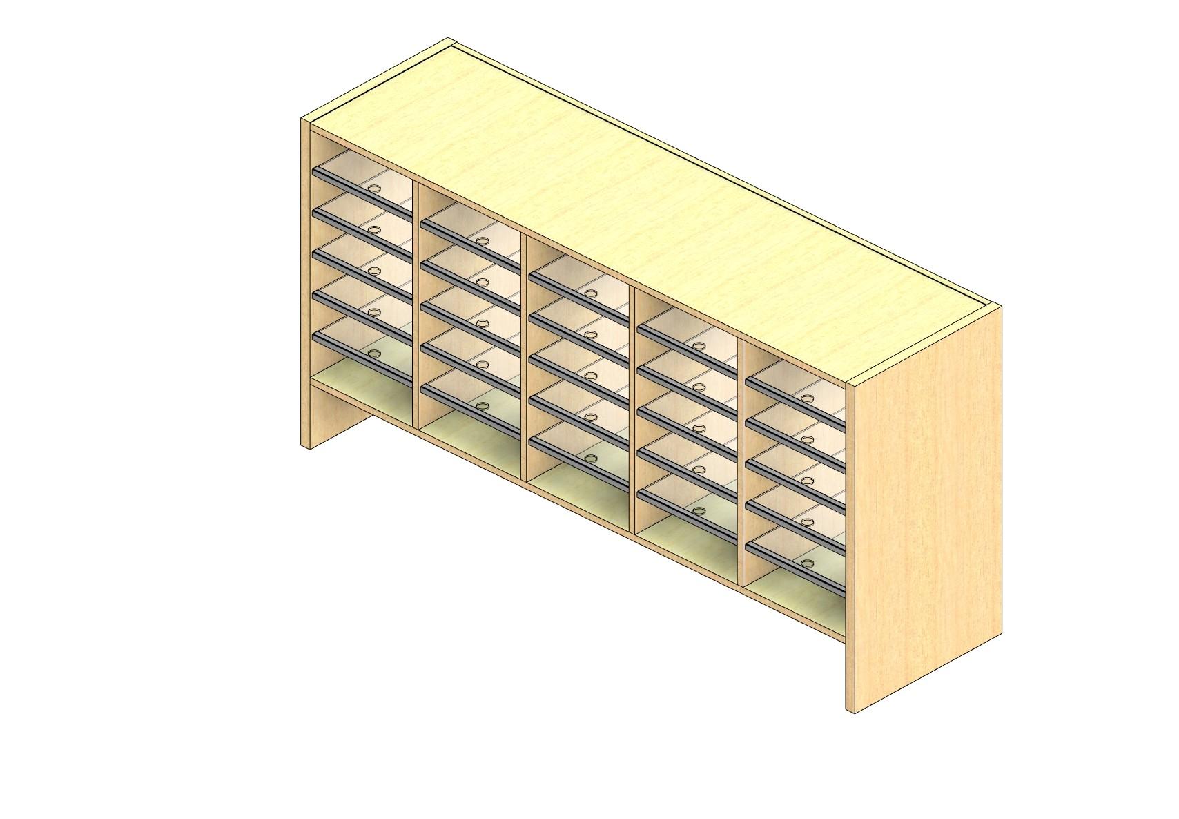 "Legal Sized Open Back Sort Module - 5 Columns - 24"" Sorting Height w/ 6"" Riser"