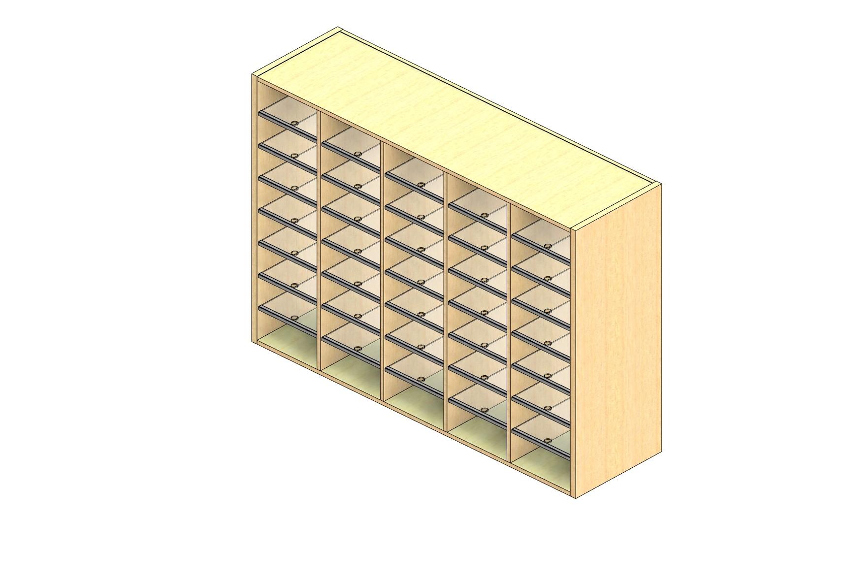 "Legal Sized Plexi Back Sort Module - 5 Columns - 42"" Sorting Height w/ No Riser"