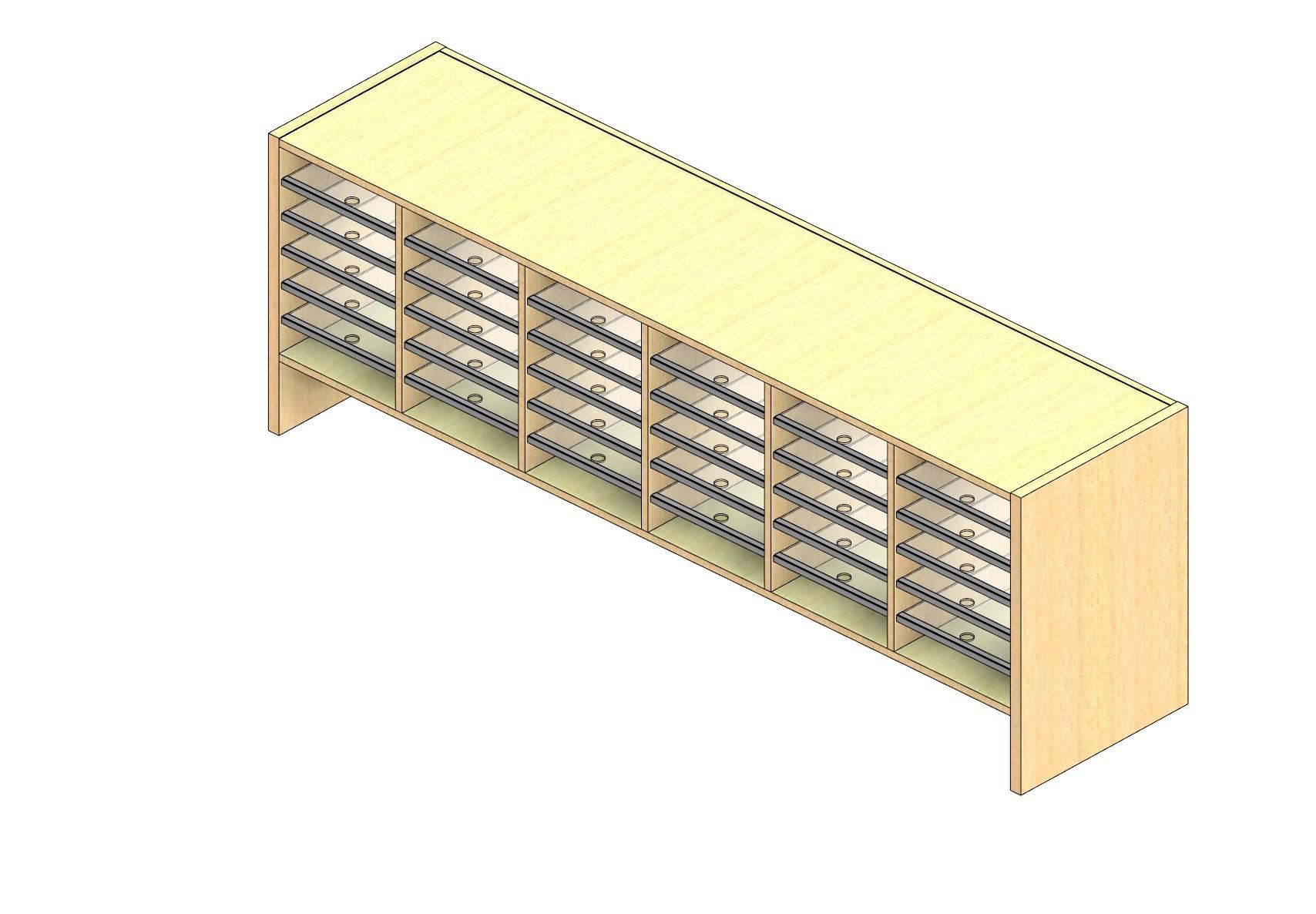 "Legal Sized Open Back Sort Module - 6 Columns - 18"" Sorting Height w/ 6"" Riser"