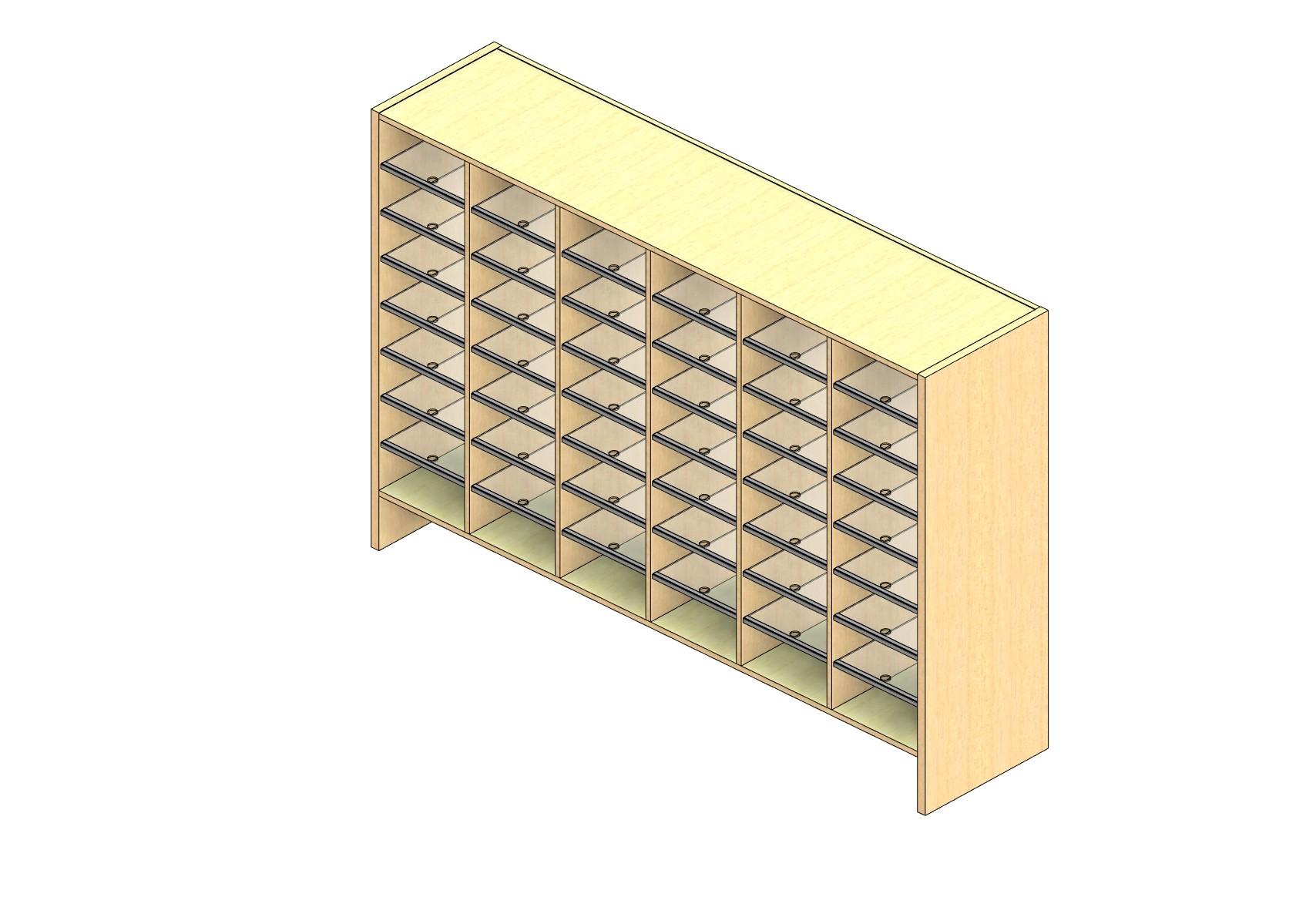 "Legal Sized Open Back Sort Module - 6 Columns - 42"" Sorting Height w/ 6"" Riser"