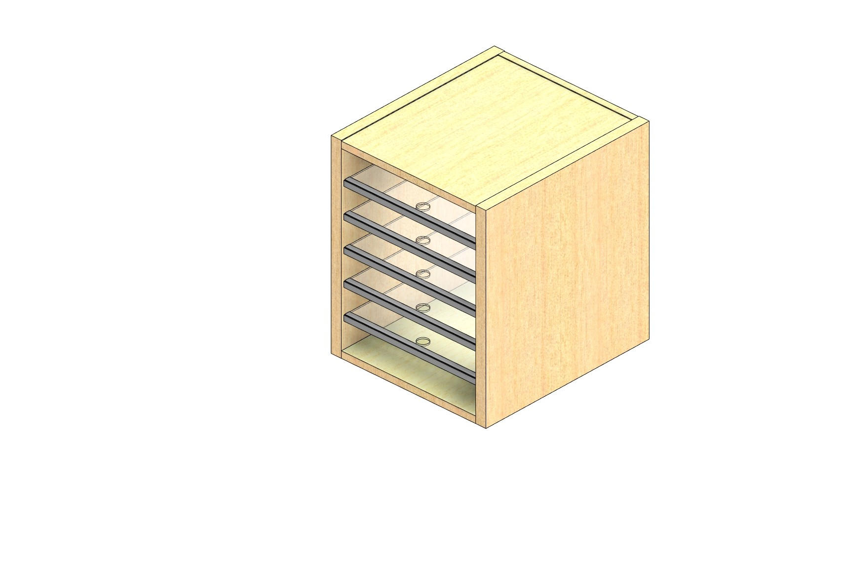 """Oversize Sized Closed Back Sort Module - 1 Column - 18"""" Sorting Height w/ No Riser"""