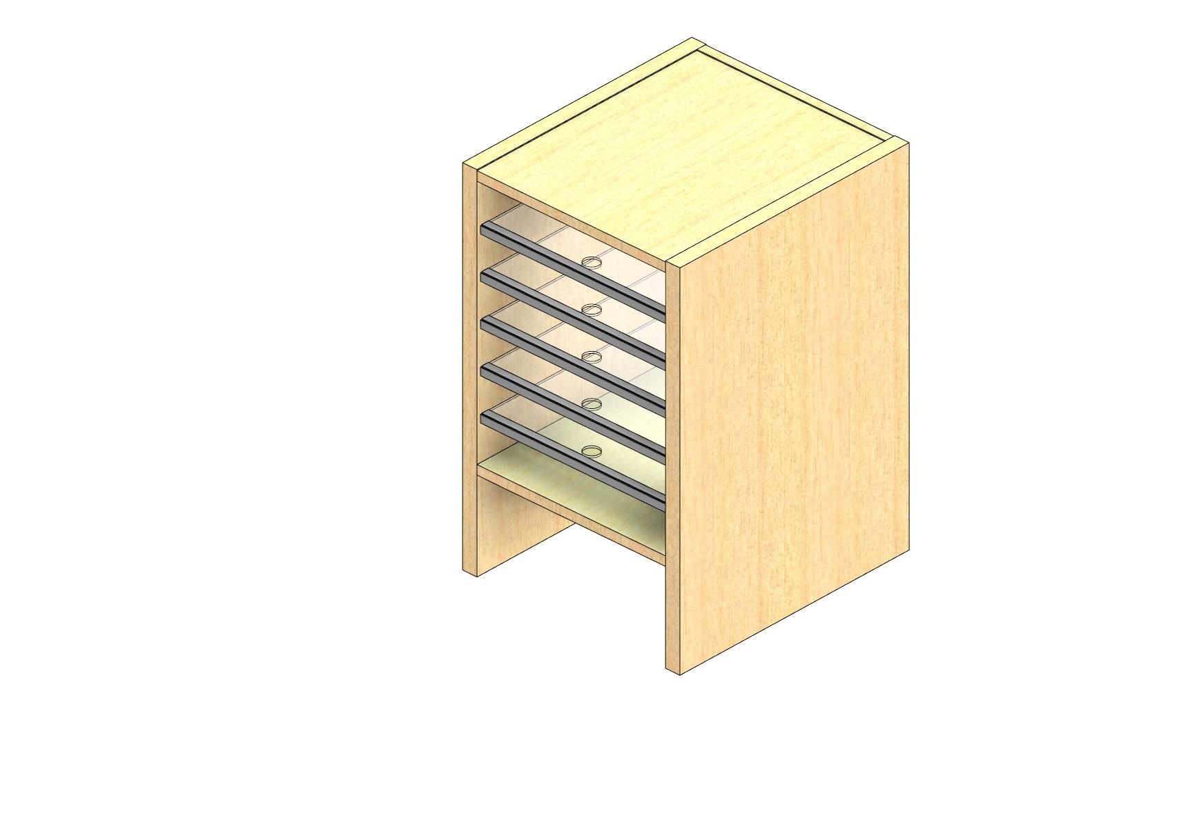 "Oversize Sized Plexi Back Sort Module - 1 Column - 18"" Sorting Height w/ 6"" Riser"