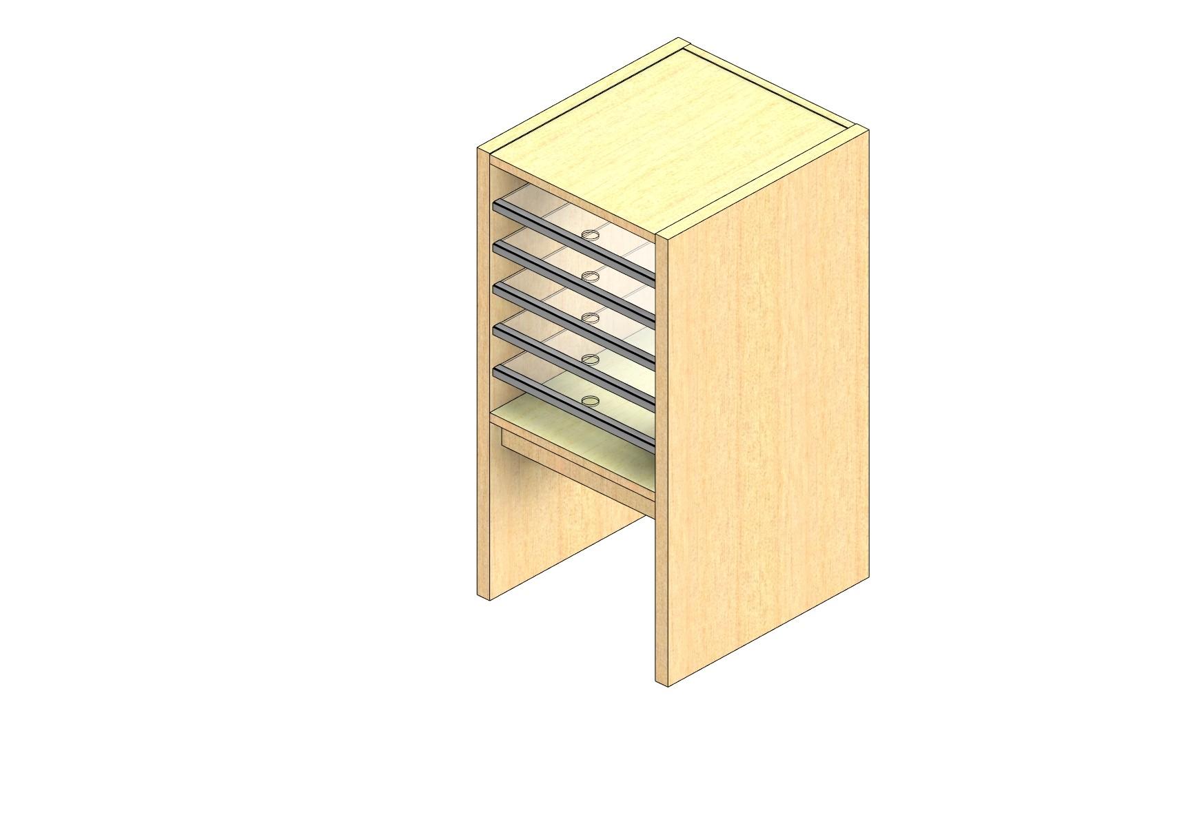 "Oversize Sized Closed Back Sort Module - 1 Column - 18"" Sorting Height w/ 12"" Riser"