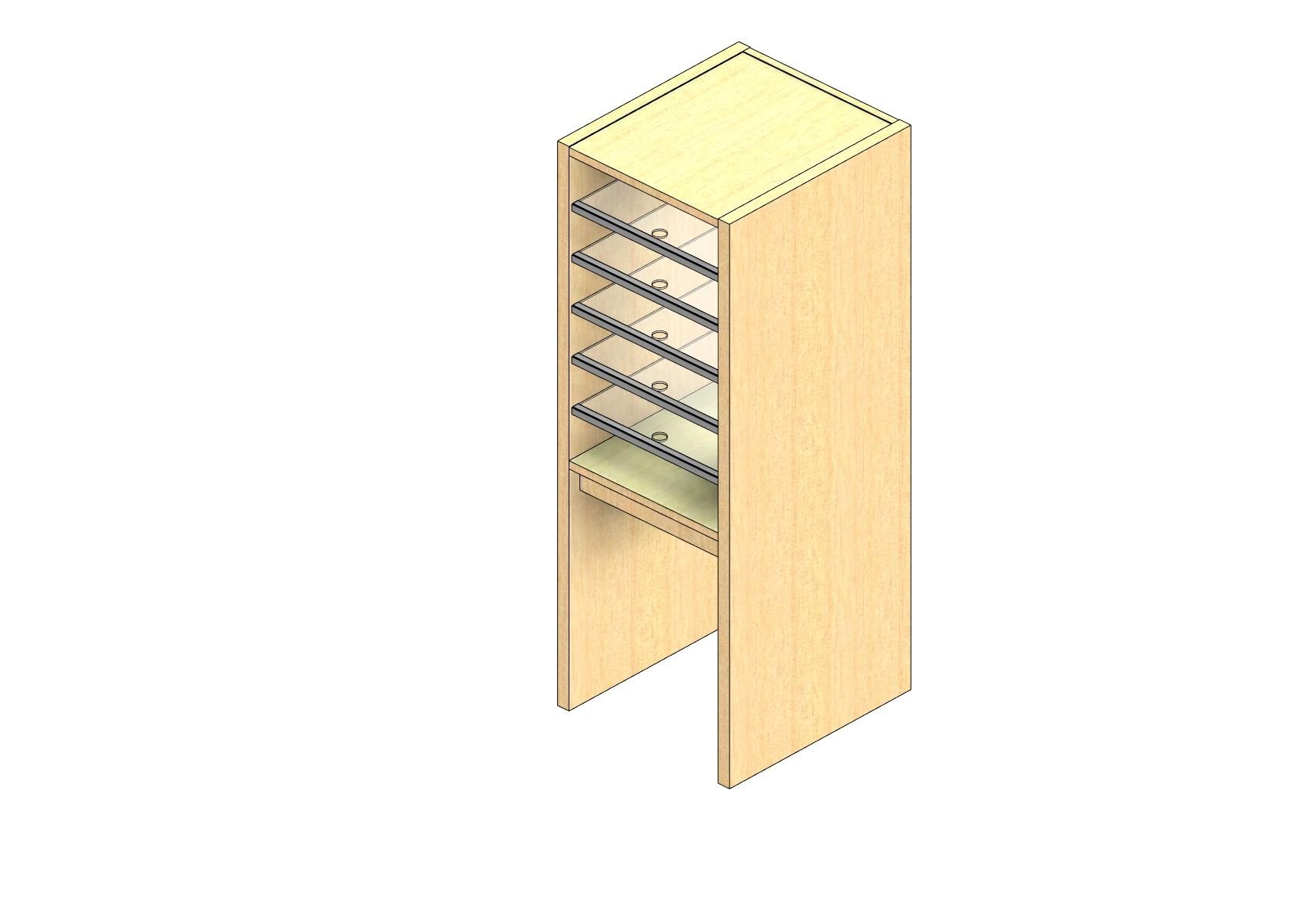 "Oversize Sized Closed Back Sort Module - 1 Column - 24"" Sorting Height w/ 18"" Riser"