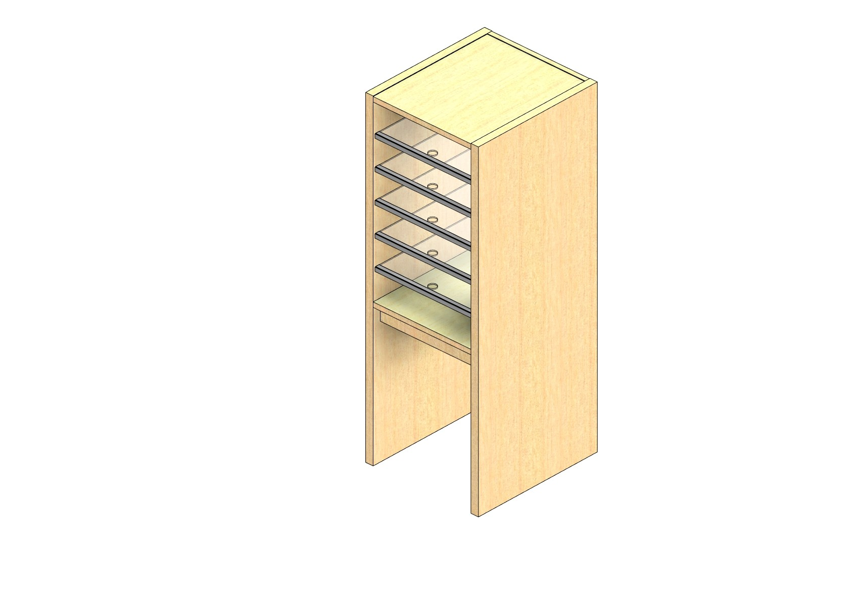 "Oversize Sized Plexi Back Sort Module - 1 Column - 24"" Sorting Height w/ 18"" Riser"