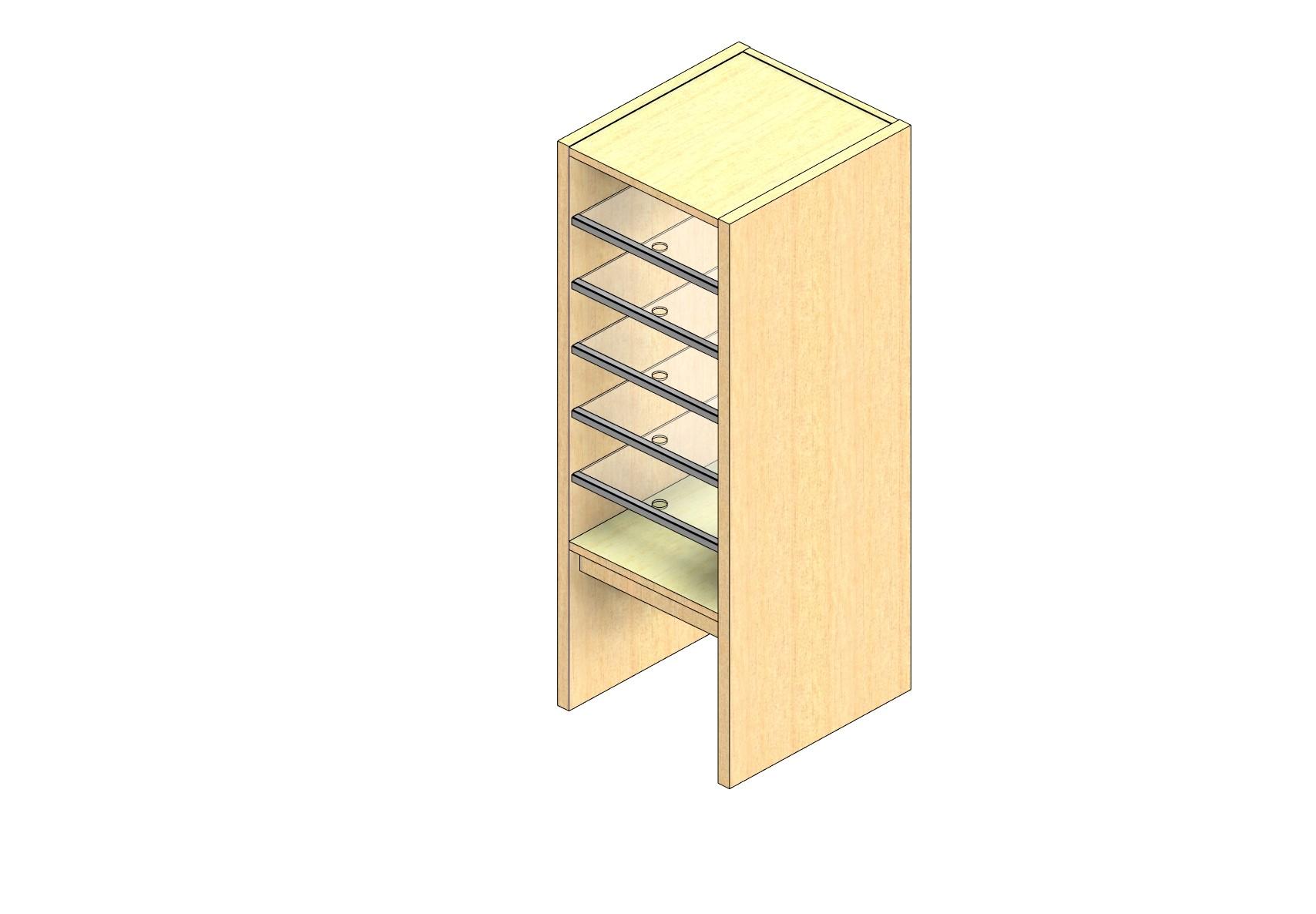 "Oversize Sized Closed Back Sort Module - 1 Column - 30"" Sorting Height w/ 12"" Riser"