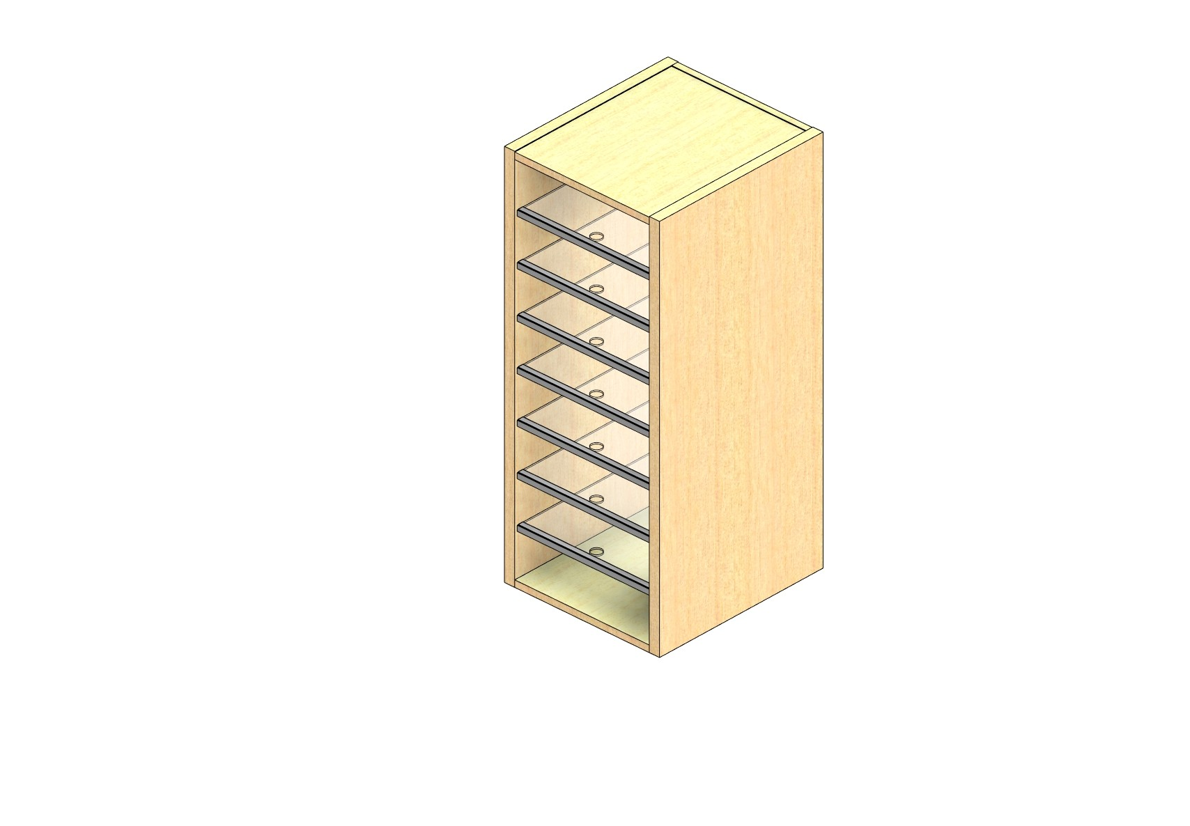 """Oversize Sized Closed Back Sort Module - 1 Column - 36"""" Sorting Height w/ No Riser"""