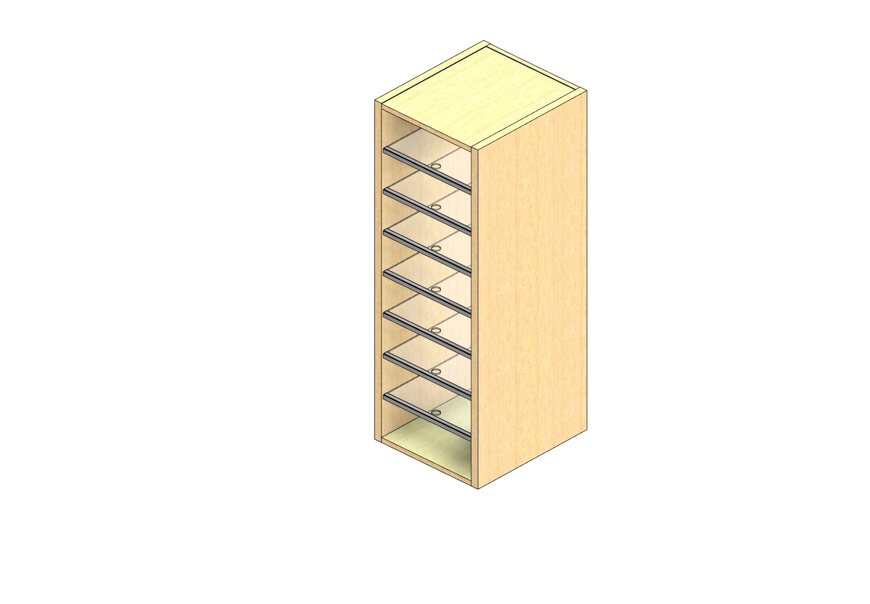 """Oversize Sized Closed Back Sort Module - 1 Column - 42"""" Sorting Height w/ No Riser"""