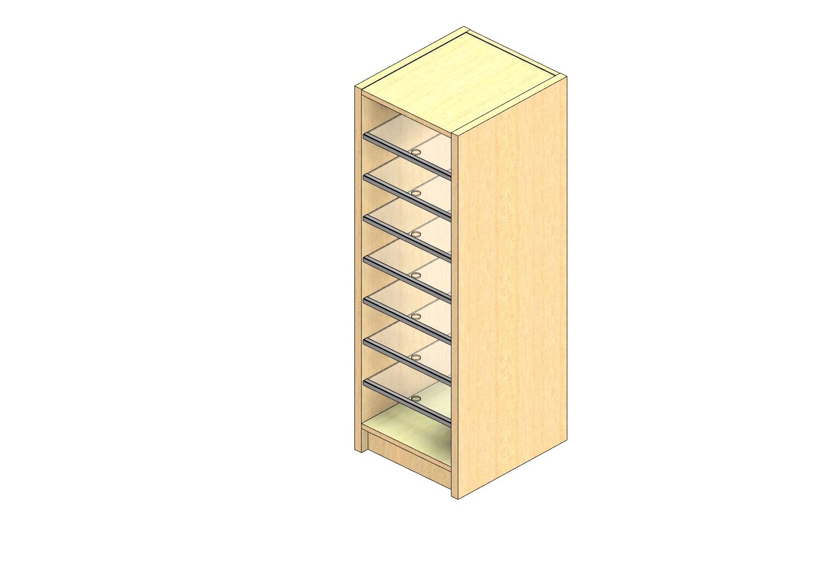 "Oversize Sized Open Back Sort Module - 1 Column - 42"" Sorting Height w/ 3"" Riser"