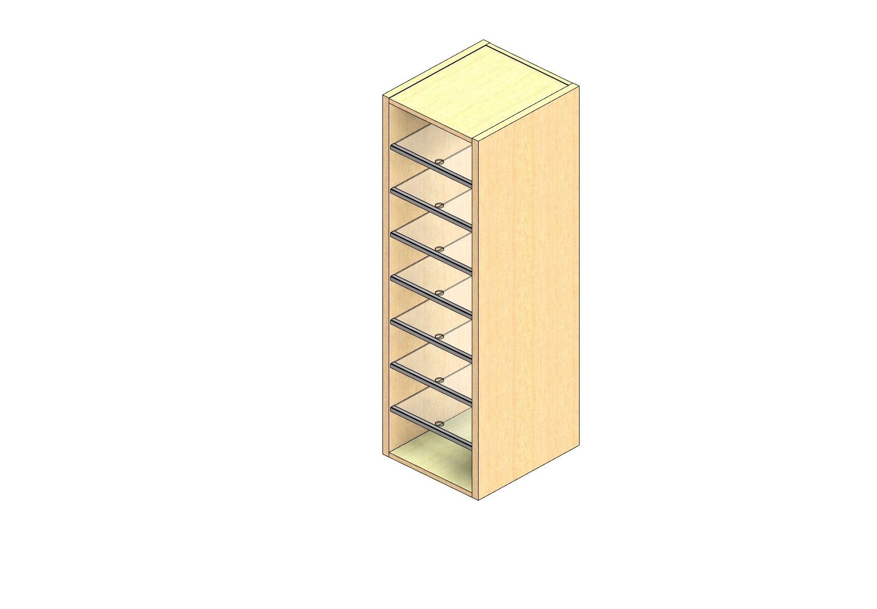 """Oversize Sized Closed Back Sort Module - 1 Column - 48"""" Sorting Height w/ No Riser"""