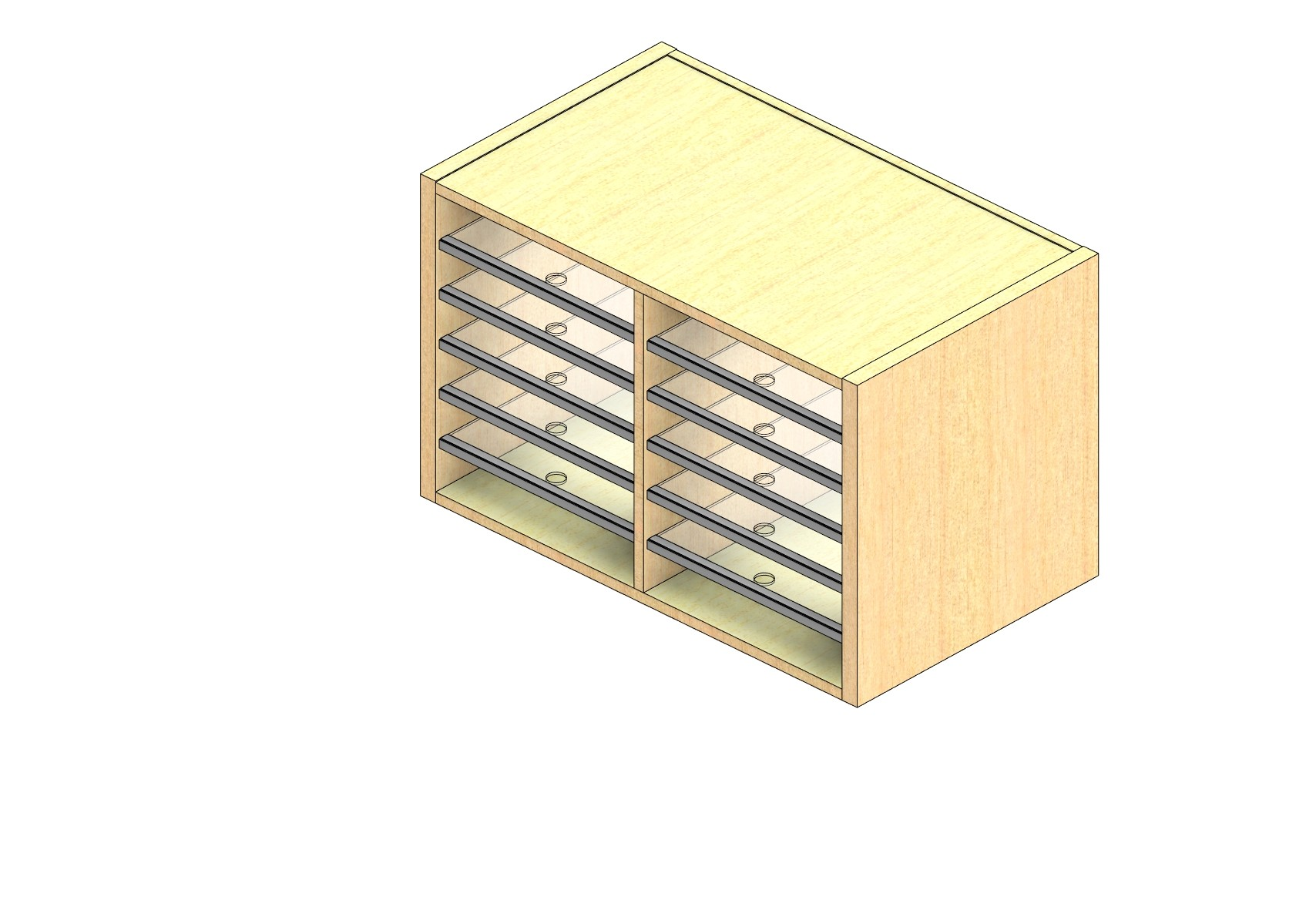 """Oversize Sized Closed Back Sort Module - 2 Columns - 18"""" Sorting Height w/ No Riser"""