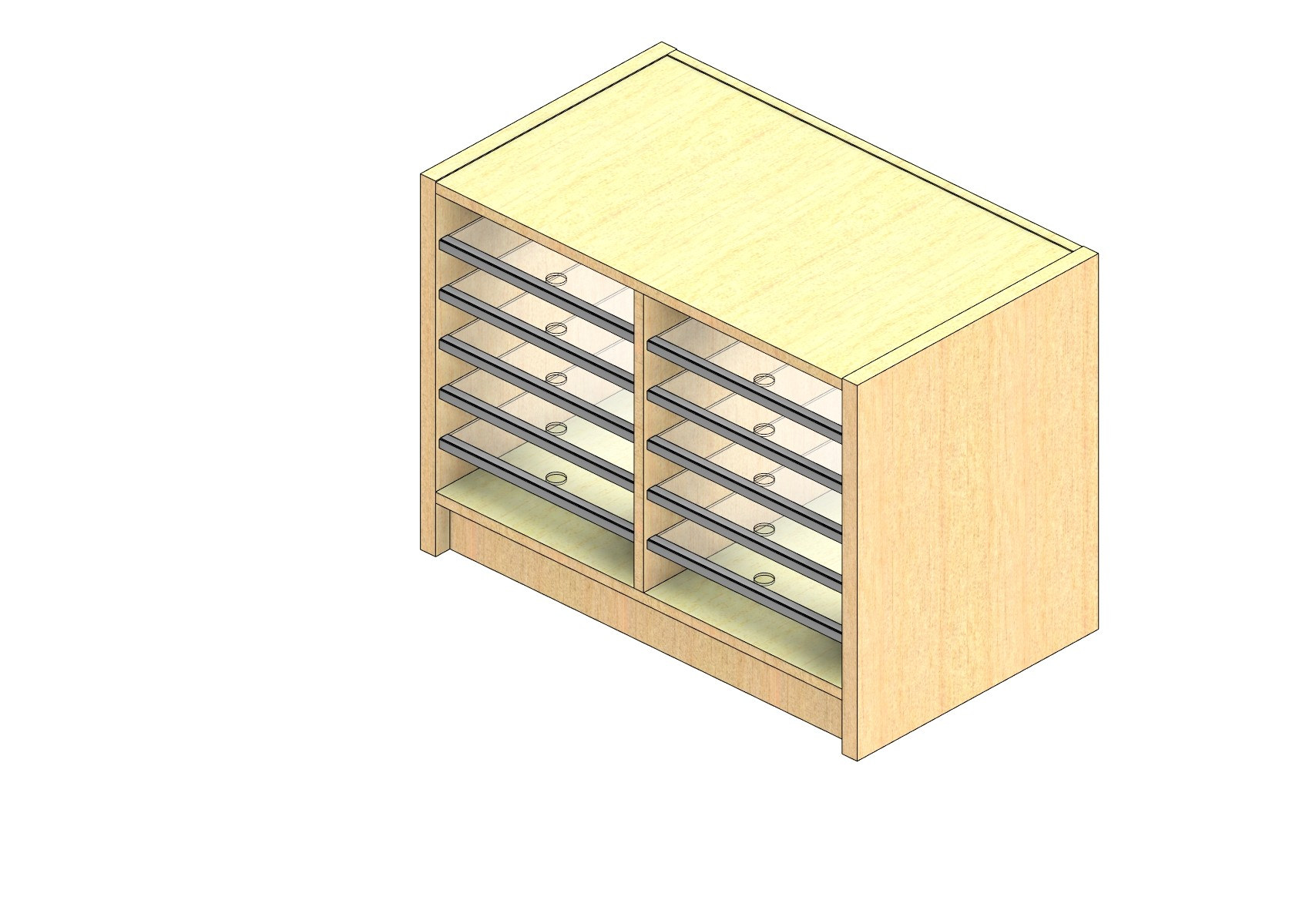 """Oversize Sized Closed Back Sort Module - 2 Columns - 18"""" Sorting Height w/ 3"""" Riser"""