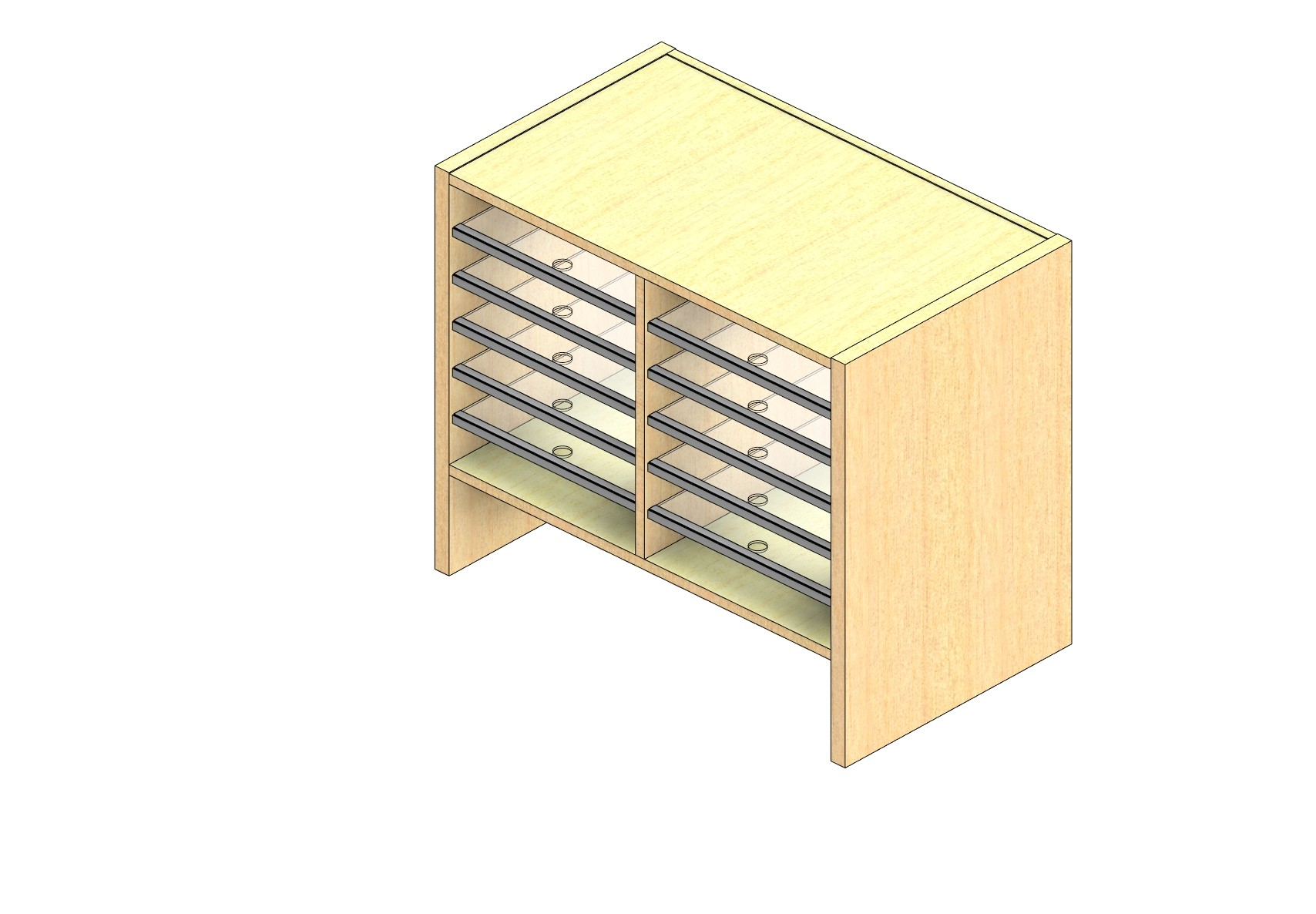 """Oversize Sized Closed Back Sort Module - 2 Columns - 18"""" Sorting Height w/ 6"""" Riser"""