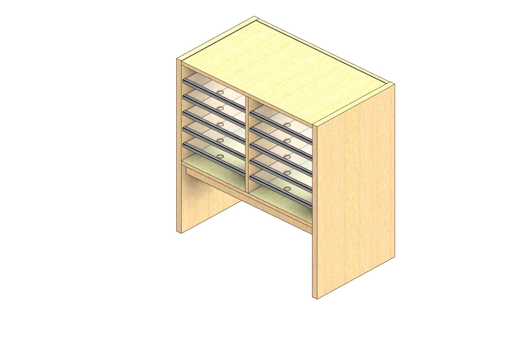 "Oversize Sized Open Back Sort Module - 2 Columns - 18"" Sorting Height w/ 12"" Riser"