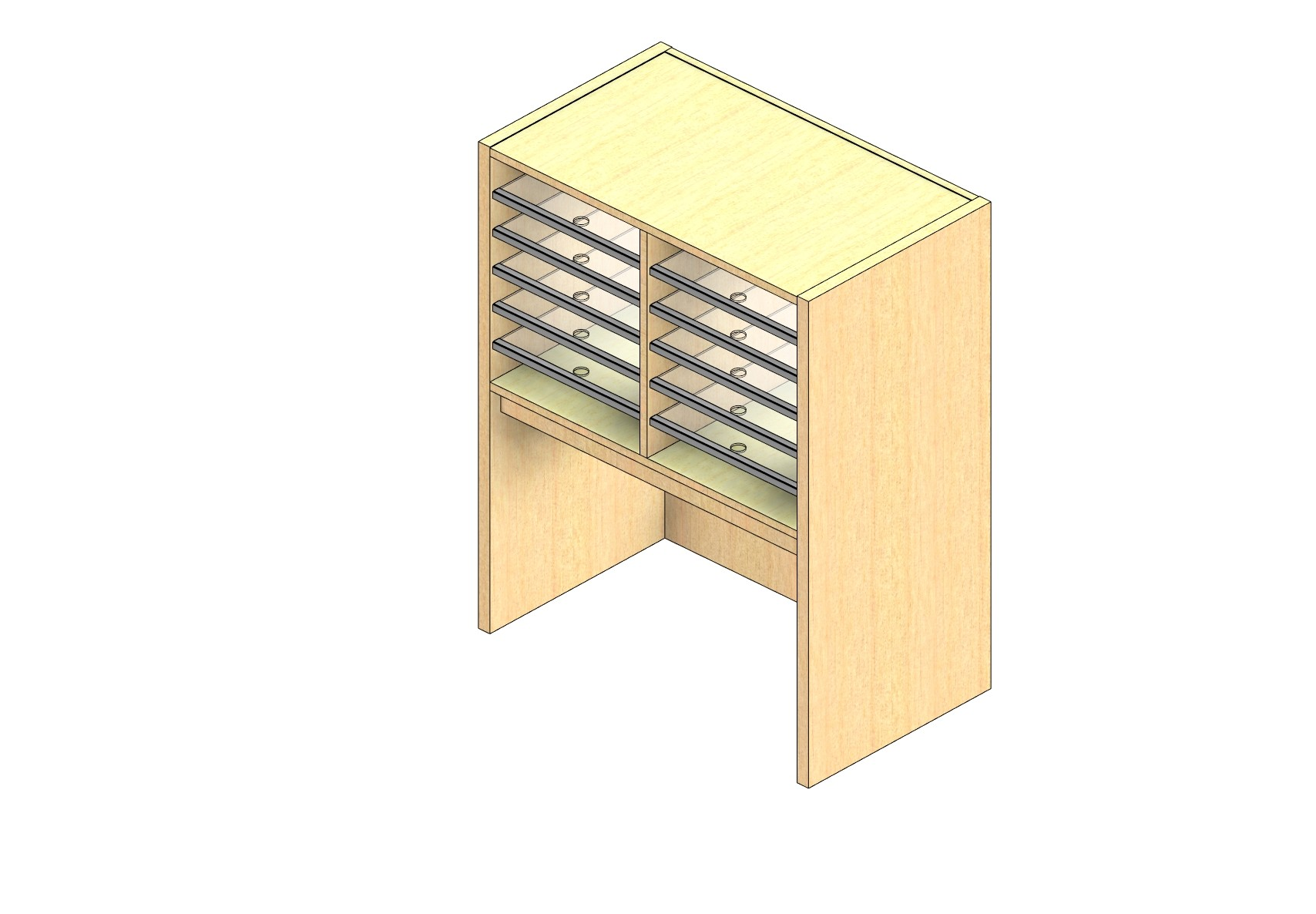 """Oversize Sized Closed Back Sort Module - 2 Columns - 18"""" Sorting Height w/ 18"""" Riser"""