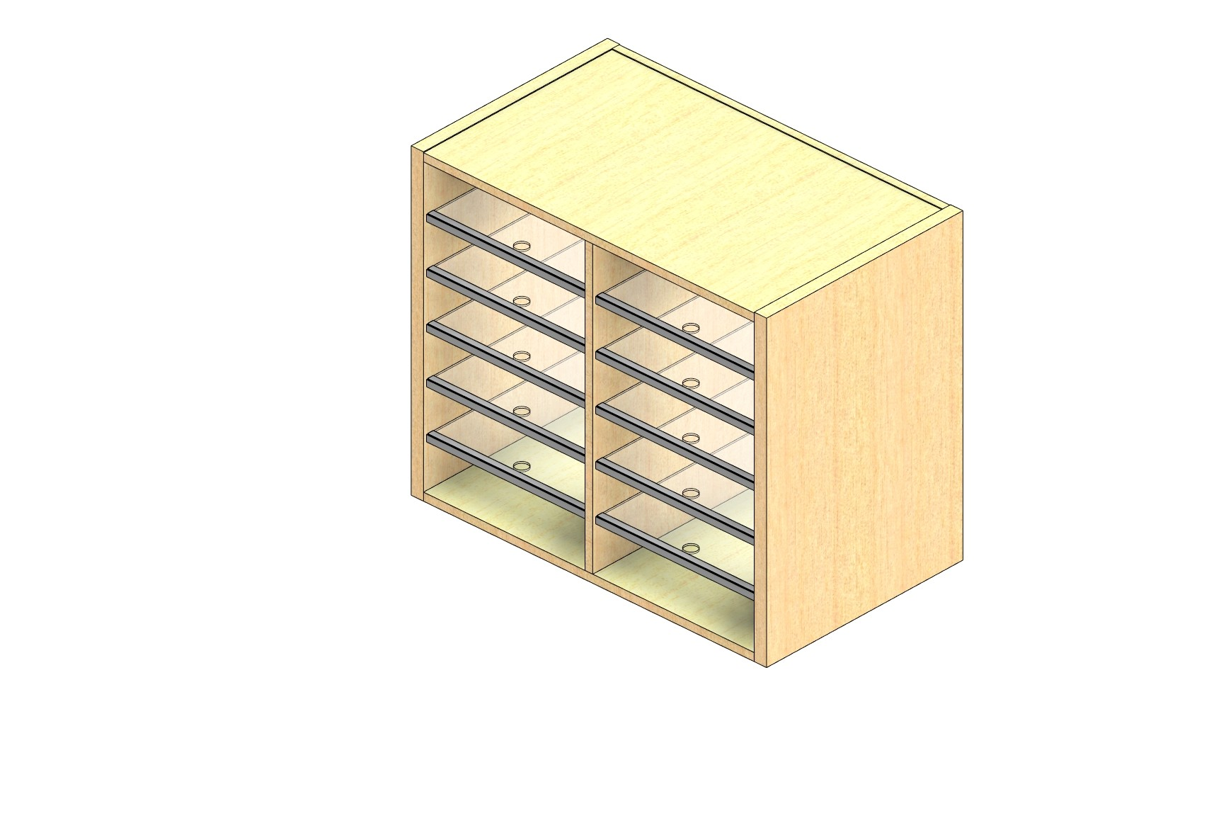 """Oversize Sized Closed Back Sort Module - 2 Columns - 24"""" Sorting Height w/ No Riser"""