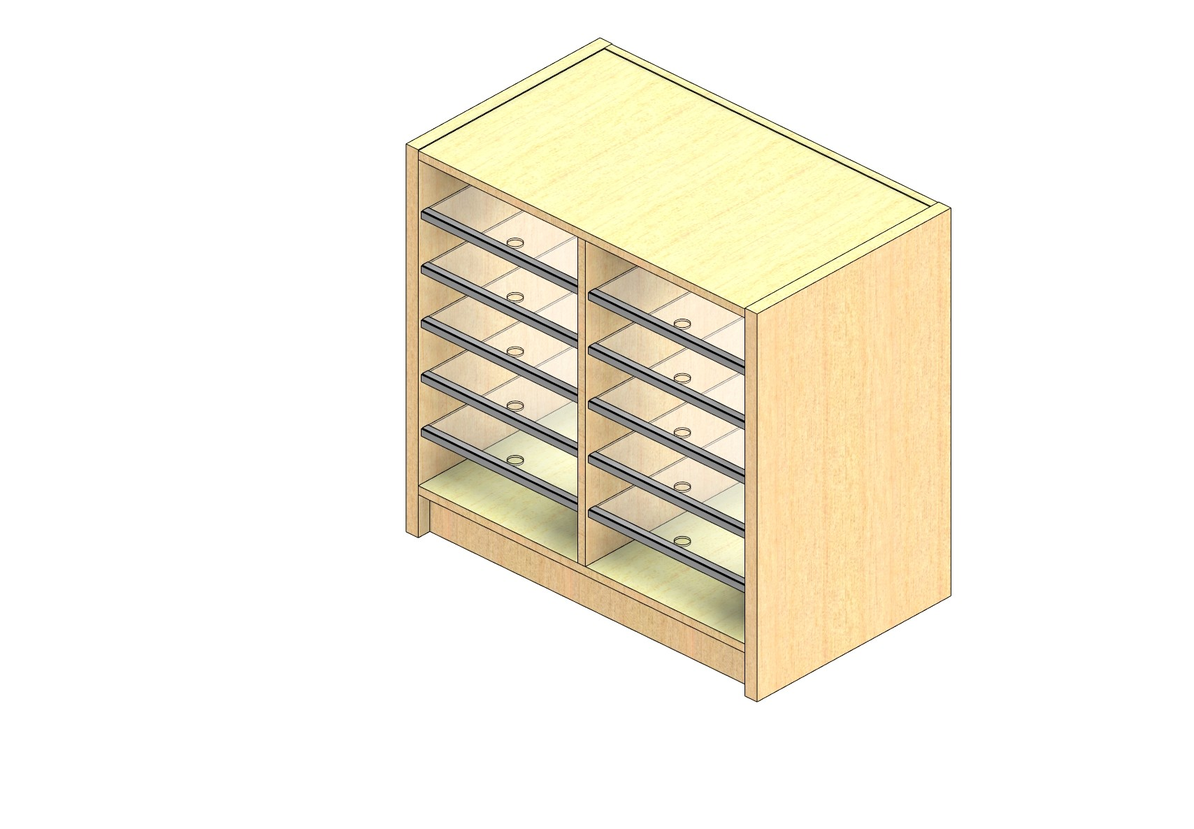 """Oversize Sized Closed Back Sort Module - 2 Columns - 24"""" Sorting Height w/ 3"""" Riser"""