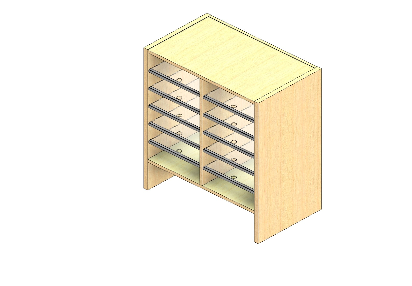 """Oversize Sized Closed Back Sort Module - 2 Columns - 24"""" Sorting Height w/ 6"""" Riser"""
