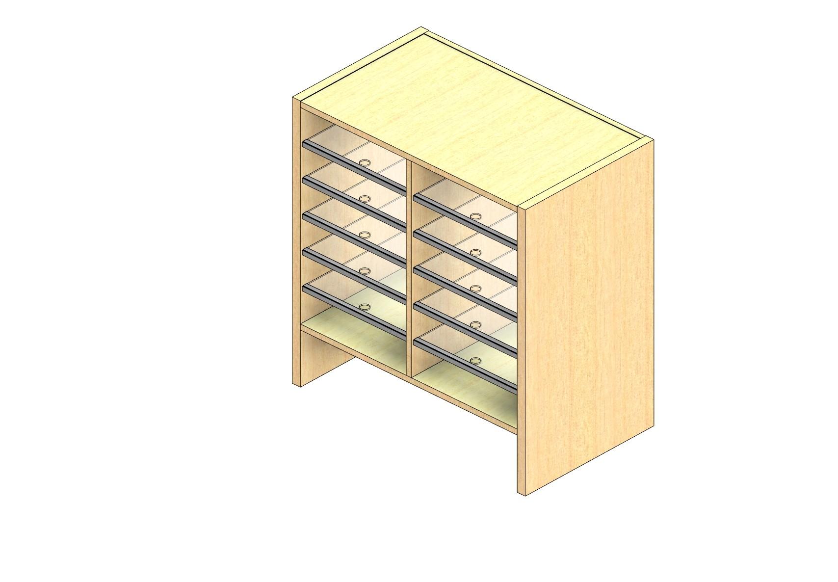 "Oversize Sized Open Back Sort Module - 2 Columns - 24"" Sorting Height w/ 6"" Riser"