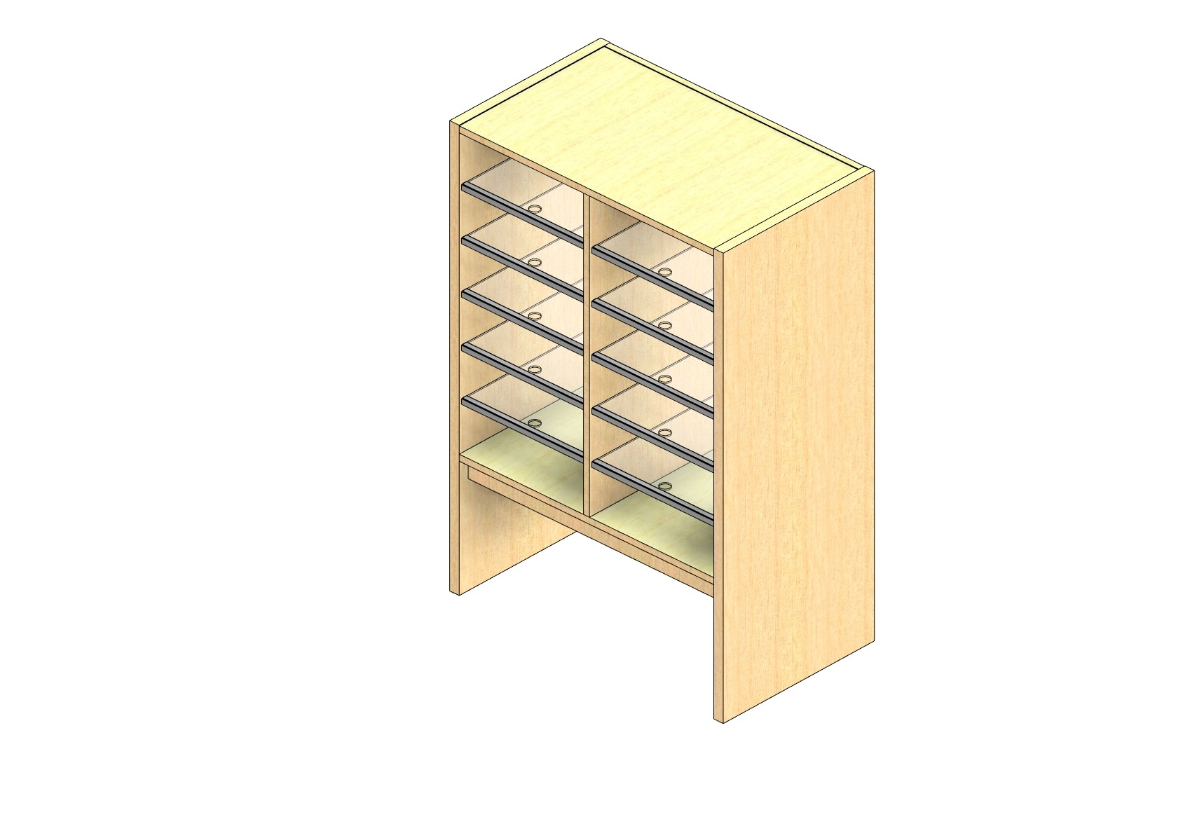 """Oversize Sized Closed Back Sort Module - 2 Columns - 30"""" Sorting Height w/ 12"""" Riser"""