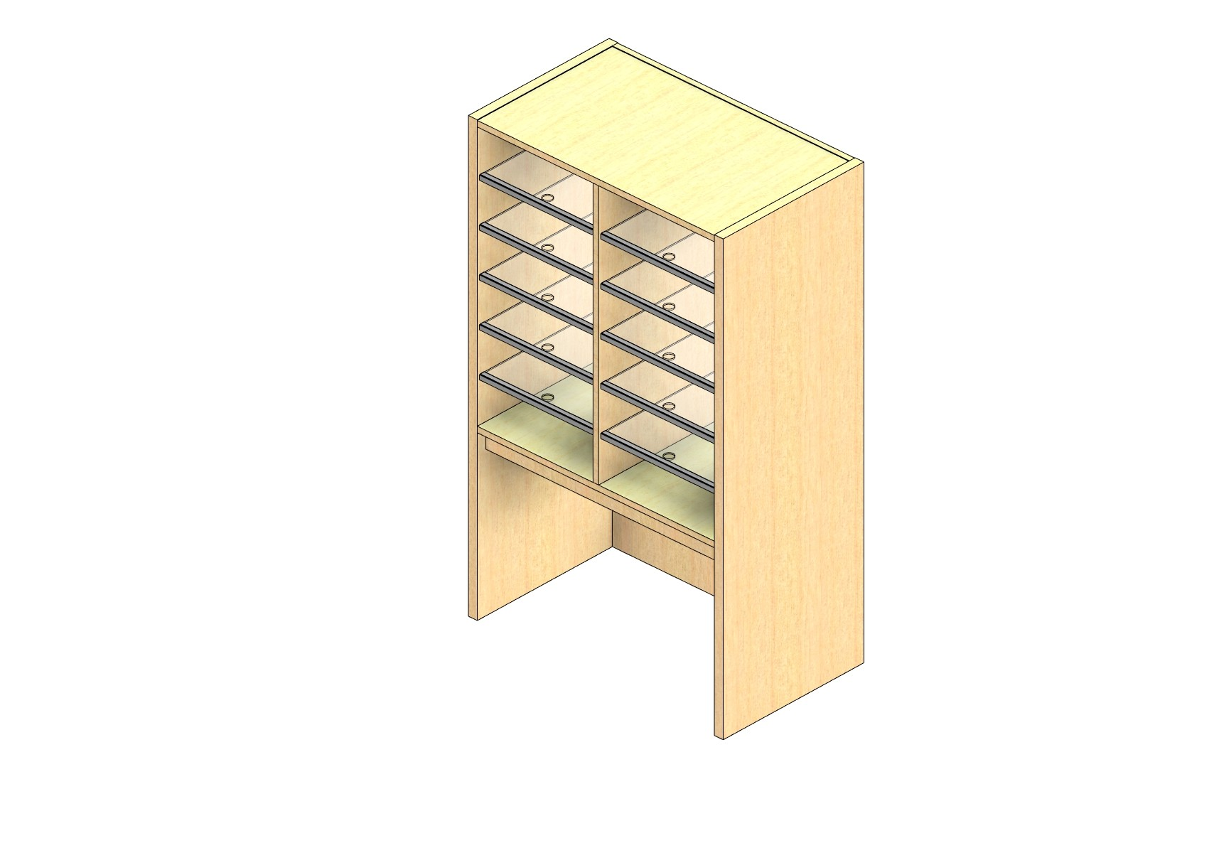 """Oversize Sized Closed Back Sort Module - 2 Columns - 30"""" Sorting Height w/ 18"""" Riser"""