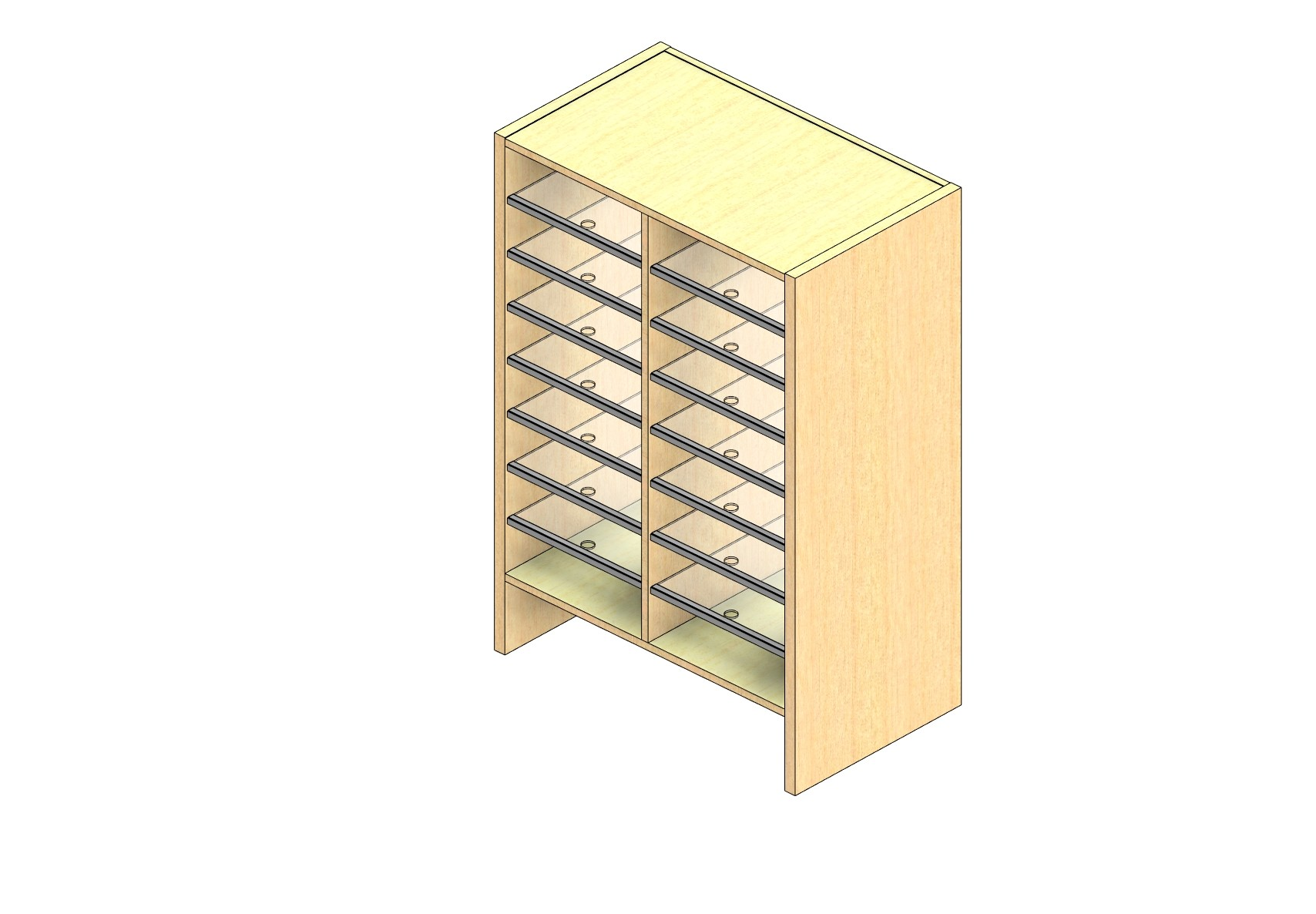 """Oversize Sized Closed Back Sort Module - 2 Columns - 36"""" Sorting Height w/ 6"""" Riser"""