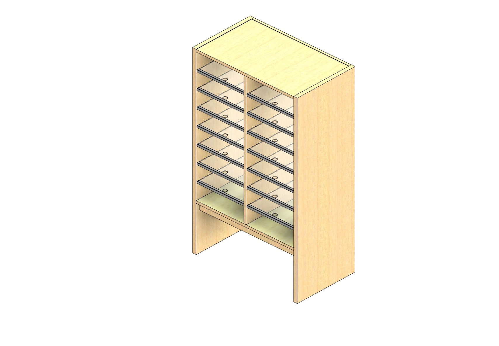 "Oversize Sized Plexi Back Sort Module - 2 Columns - 36"" Sorting Height w/ 12"" Riser"