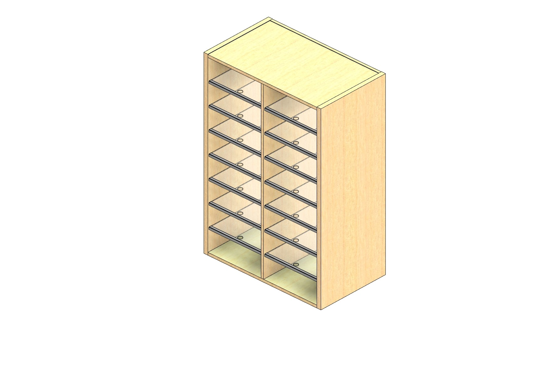 """Oversize Sized Closed Back Sort Module - 2 Columns - 42"""" Sorting Height w/ No Riser"""