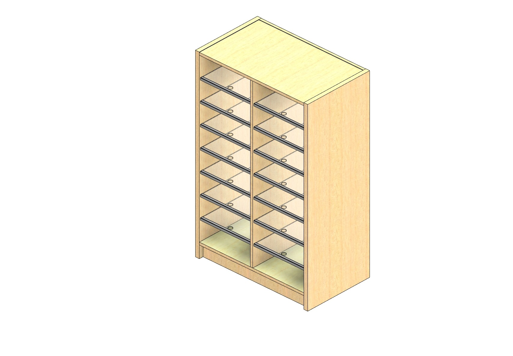 "Oversize Sized Open Back Sort Module - 2 Columns - 42"" Sorting Height w/ 3"" Riser"