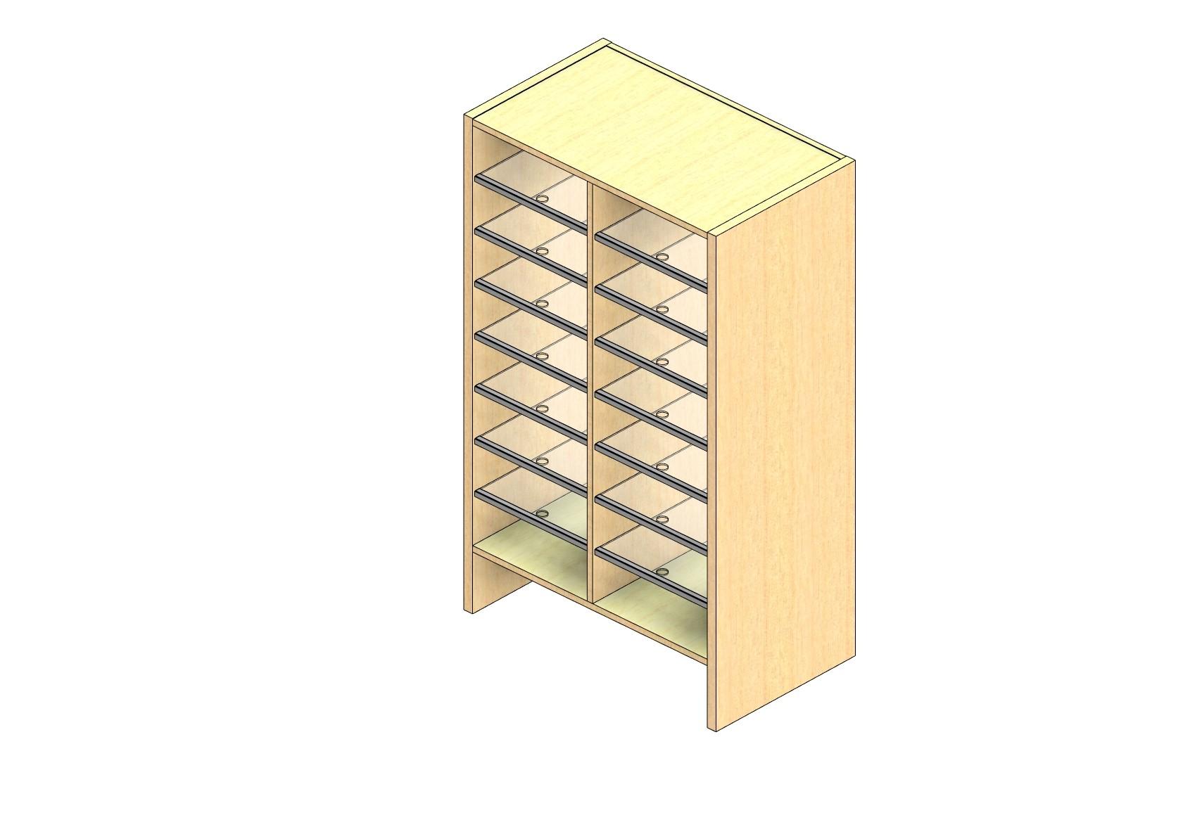 "Oversize Sized Plexi Back Sort Module - 2 Columns - 42"" Sorting Height w/ 6"" Riser"