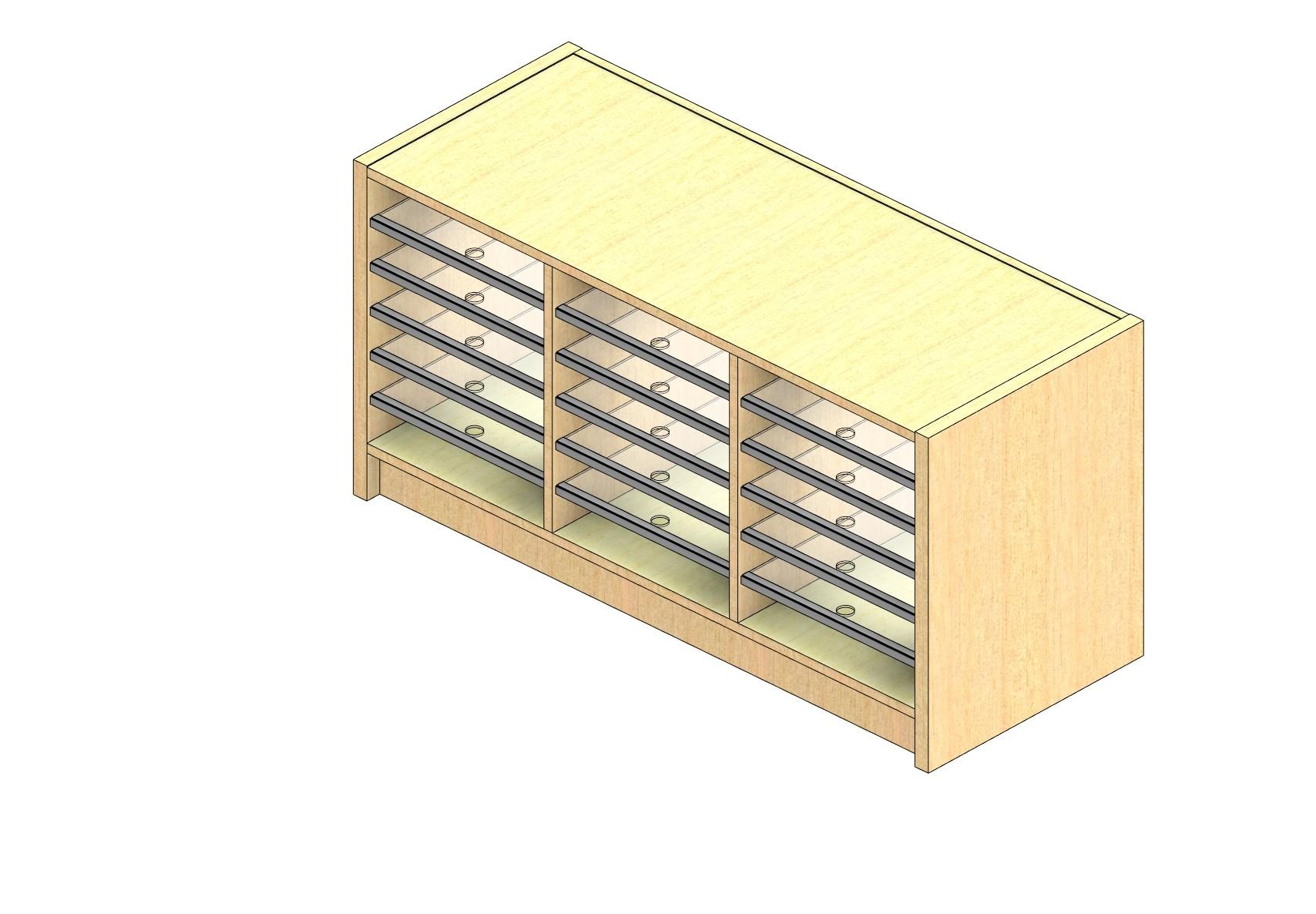 "Oversize Sized Open Back Sort Module - 3 Columns - 18"" Sorting Height w/ 3"" Riser"