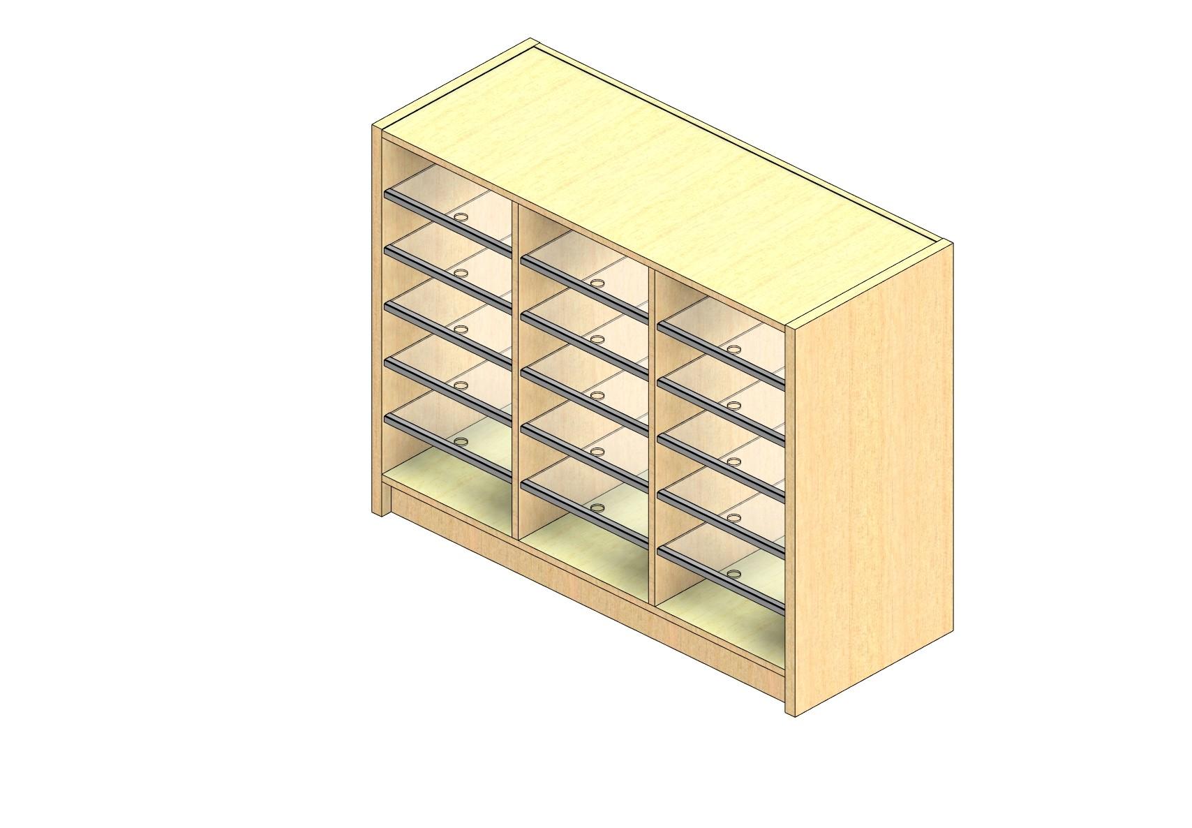 "Oversize Sized Open Back Sort Module - 3 Columns - 30"" Sorting Height w/ 3"" Riser"