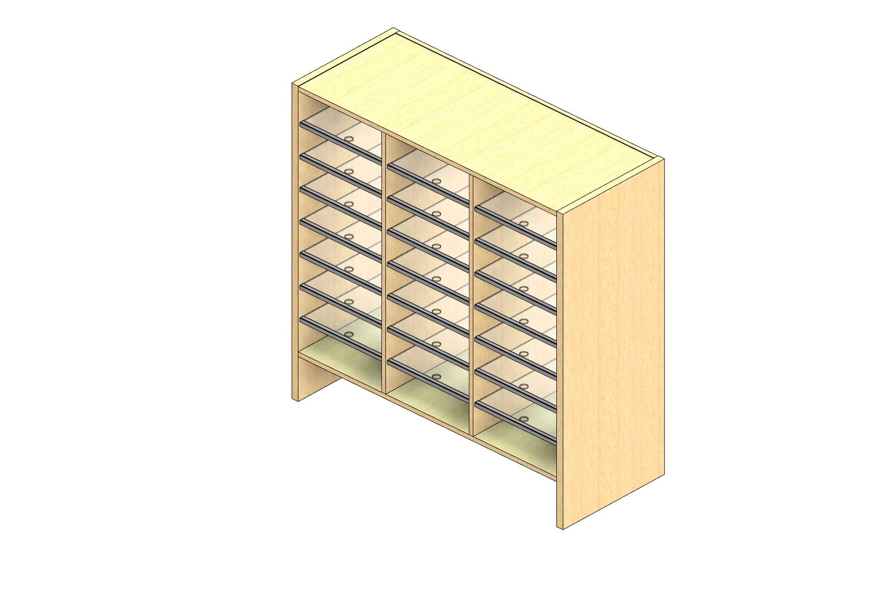 "Oversize Sized Plexi Back Sort Module - 3 Columns - 36"" Sorting Height w/ 6"" Riser"