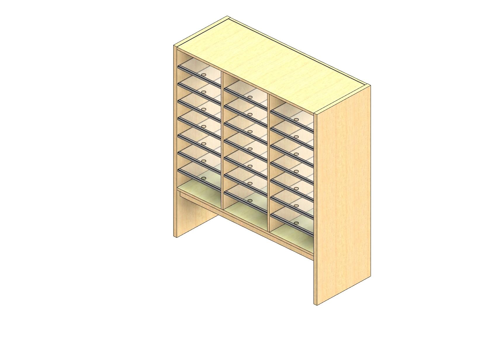 "Oversize Sized Open Back Sort Module - 3 Columns - 36"" Sorting Height w/ 12"" Riser"