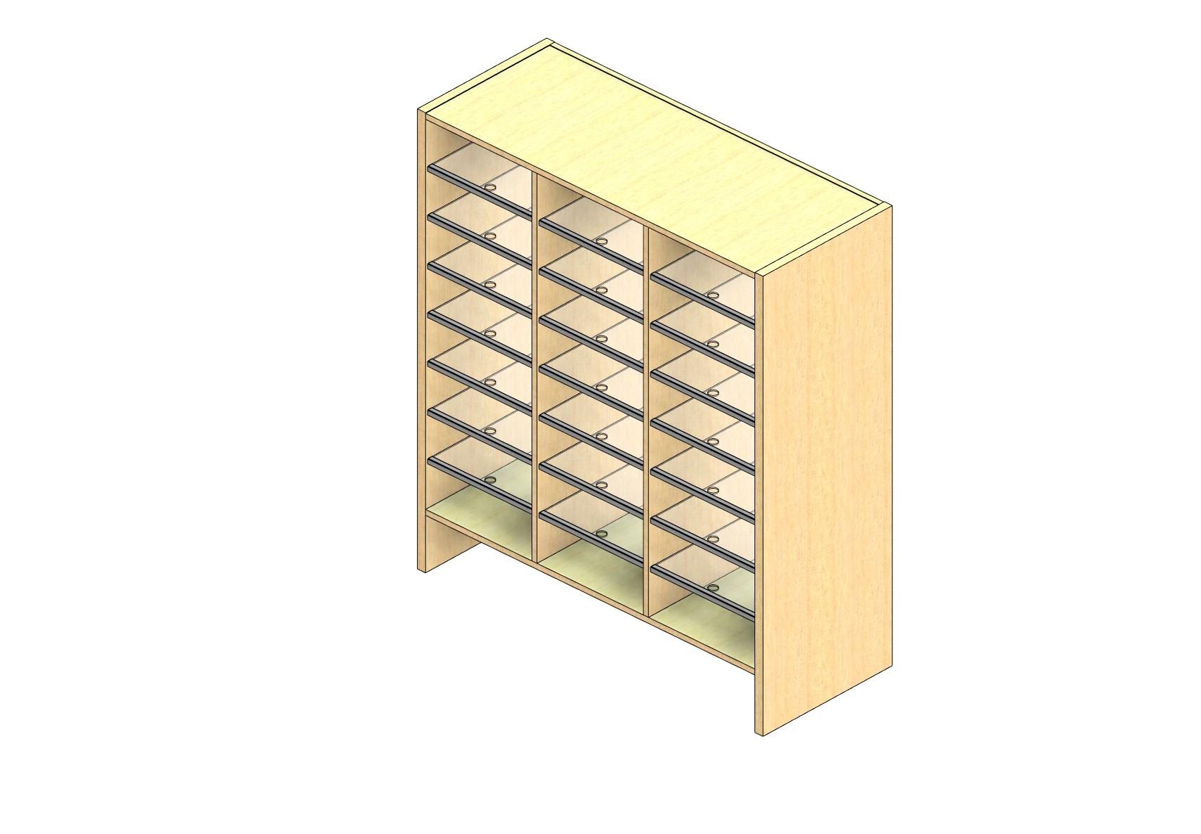 "Oversize Sized Plexi Back Sort Module - 3 Columns - 42"" Sorting Height w/ 6"" Riser"