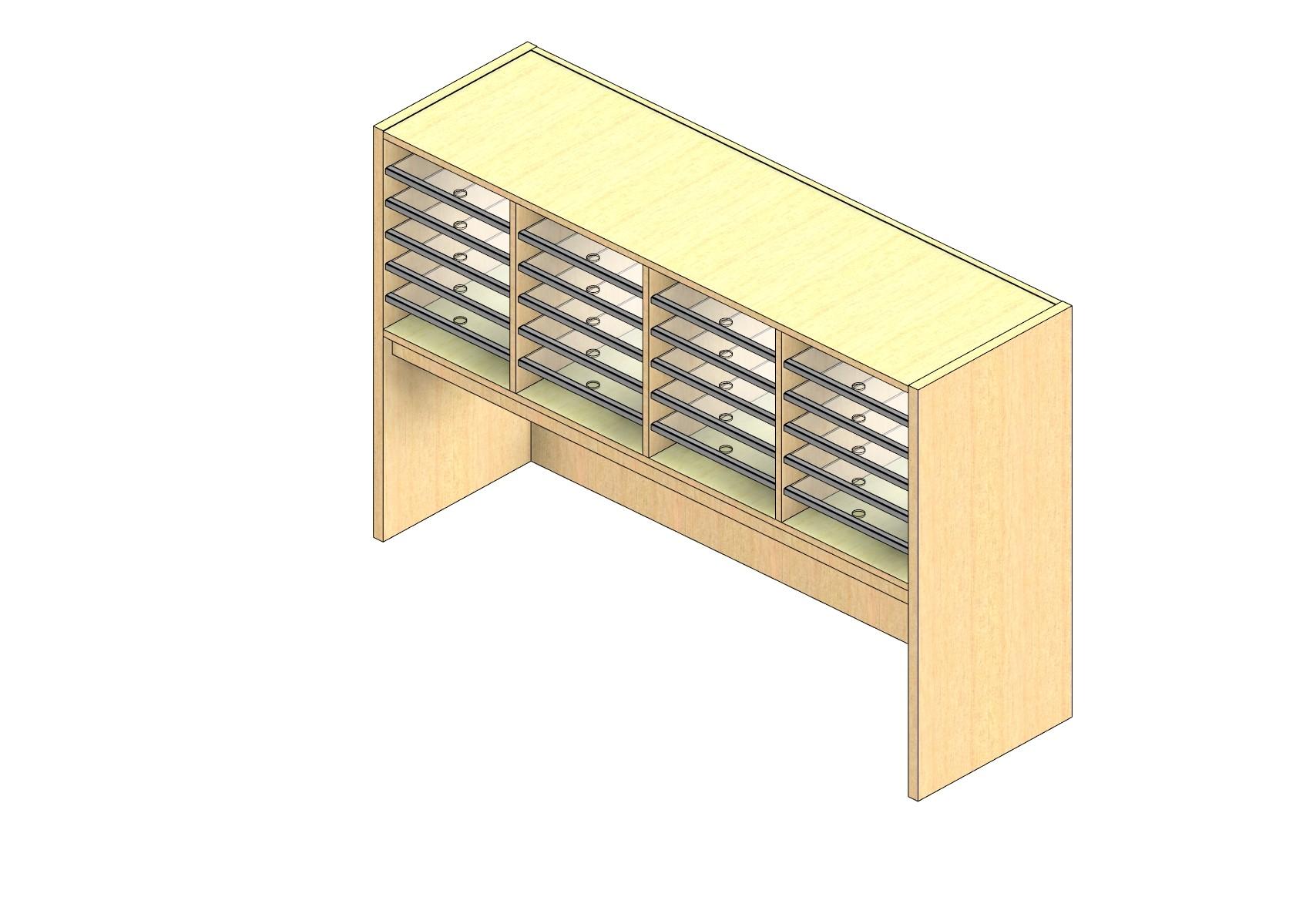 "Oversize Sized Open Back Sort Module - 4 Columns - 18"" Sorting Height w/ 18"" Riser"