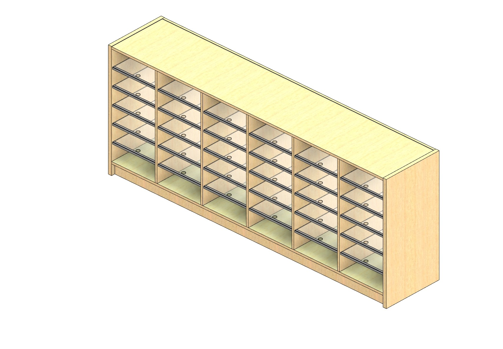 """Oversize Sized Closed Back Sort Module - 6 Columns - 30"""" Sorting Height w/ 3"""" Riser"""