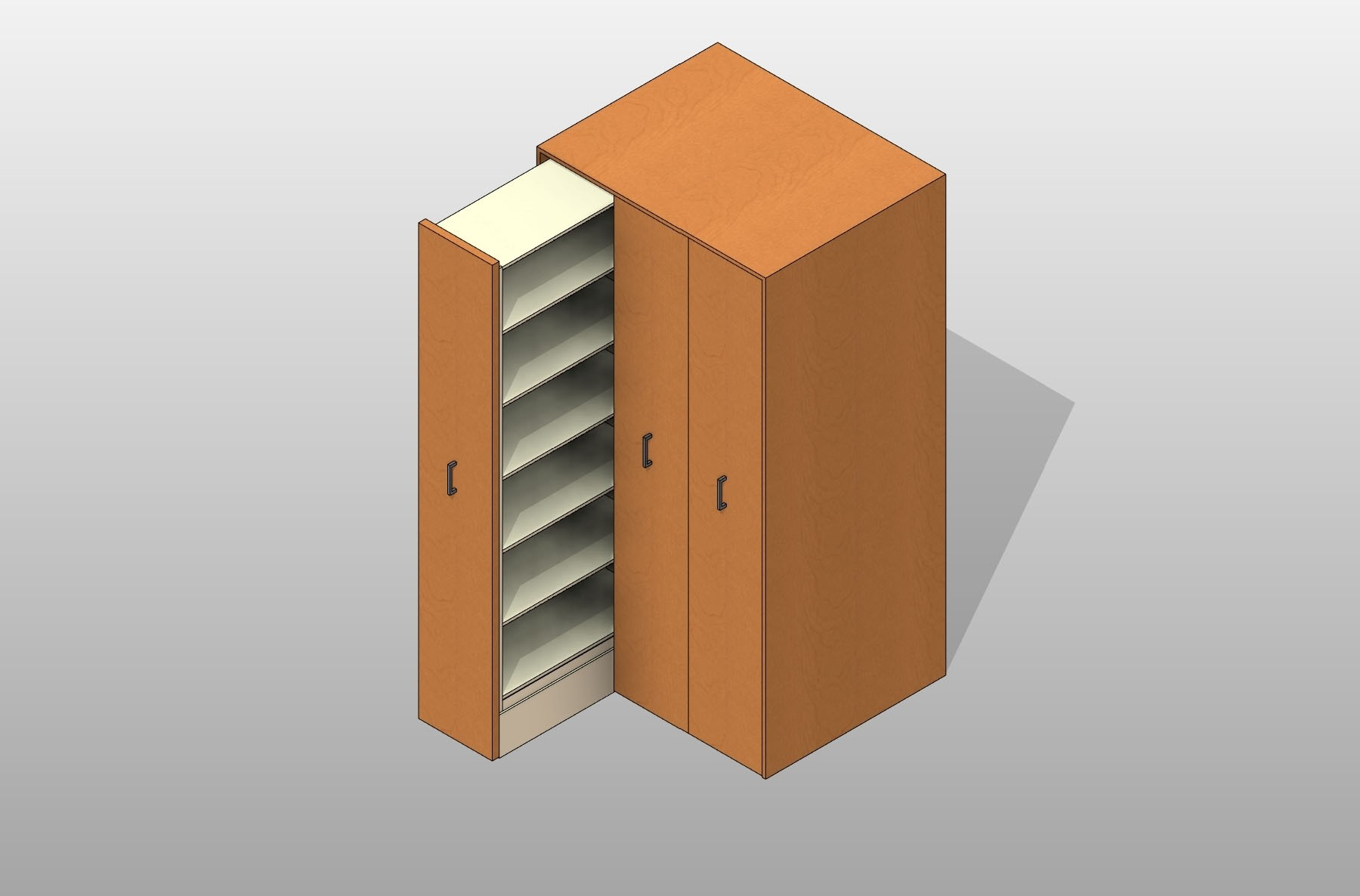Pull Out 4 Post Shelving